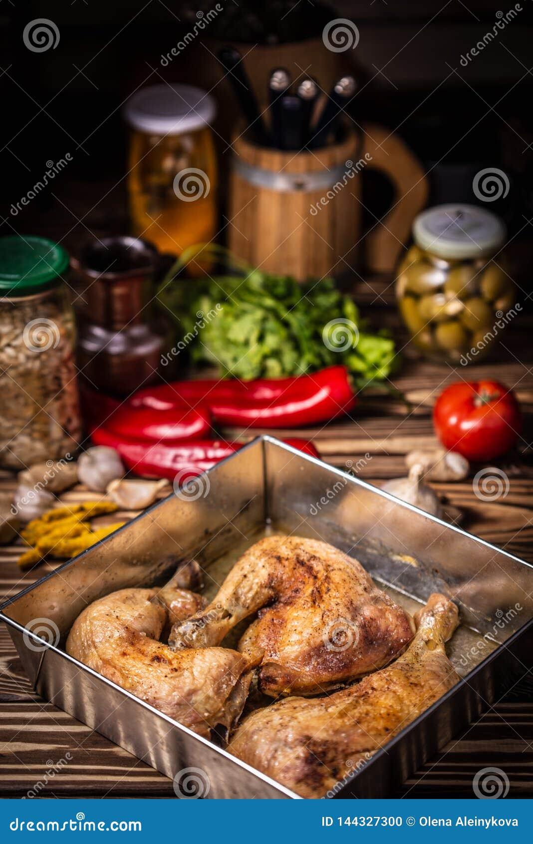 Kurczak piec nogi Dieta, posiłek
