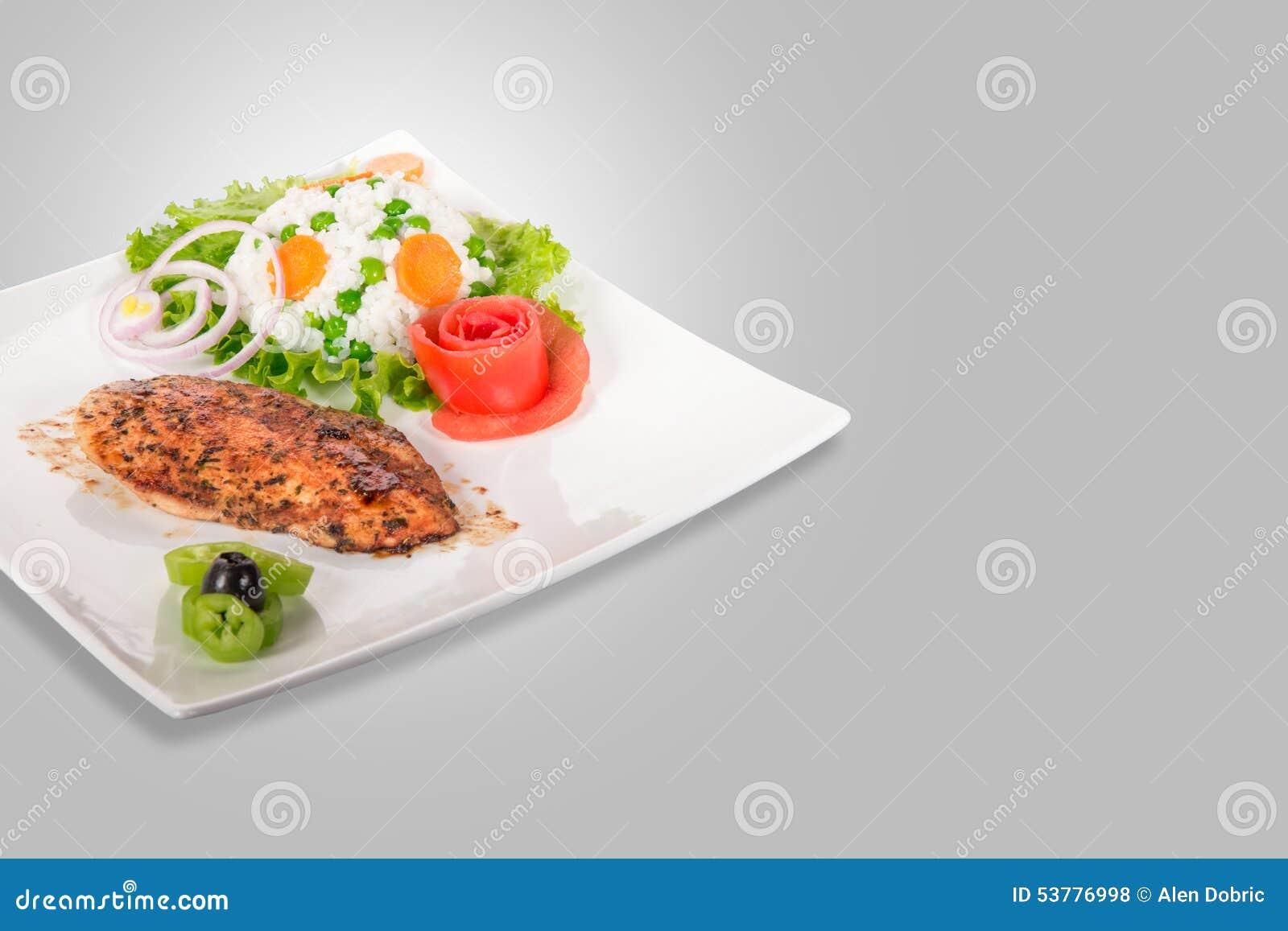 Kurczak polędwicowy na talerzu
