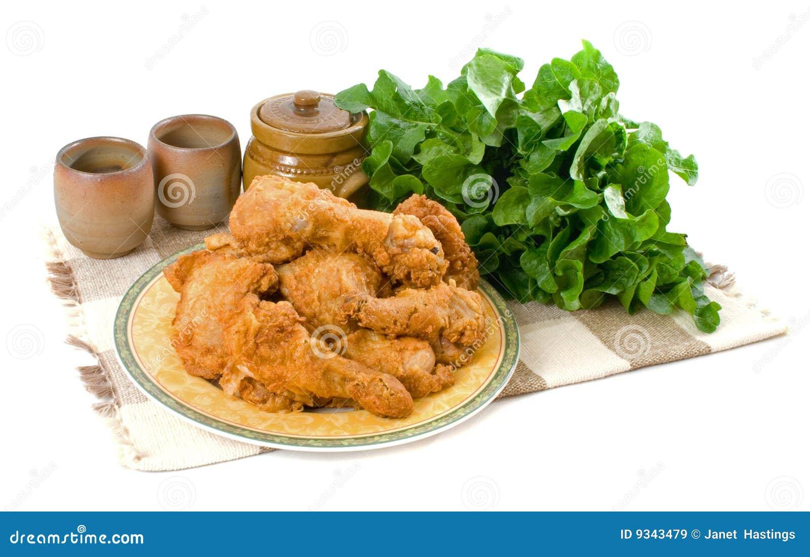 Kurczak smażący kawałki