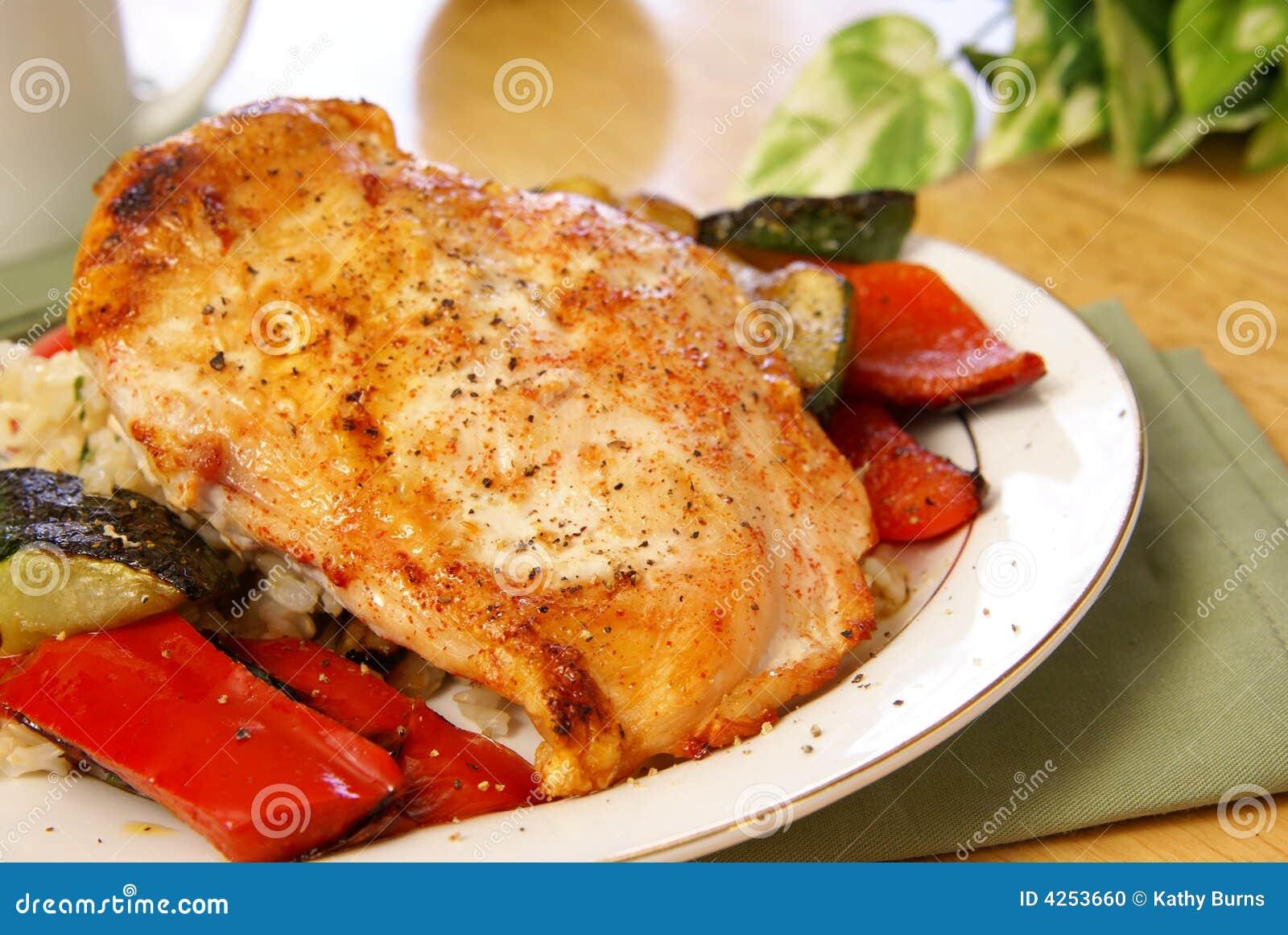 Kurczaka podpiekający pepper