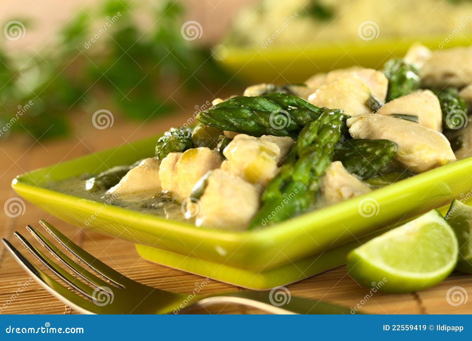 Kurczaka szparagowy fricassee