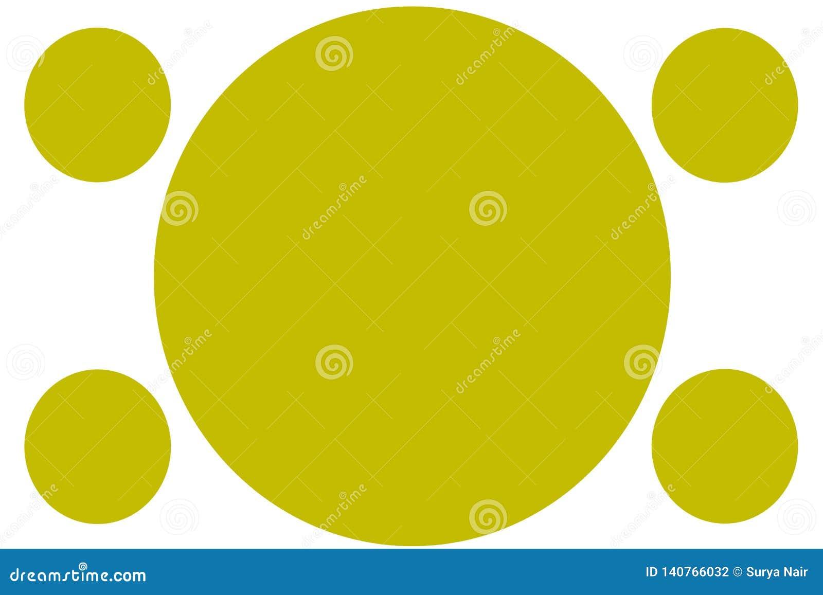 Kurenda Barwiący sztandary - kolorów żółtych okręgi Może używać dla Ilustracyjnego zamierza, tło, strona internetowa, biznesy, pr