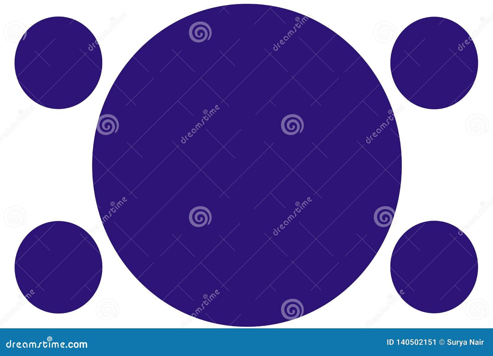 Kurenda Barwił sztandary błękitni okręgi - zmrok - Może używać dla Ilustracyjnego zamierza, tło, strona internetowa, biznesy, pre