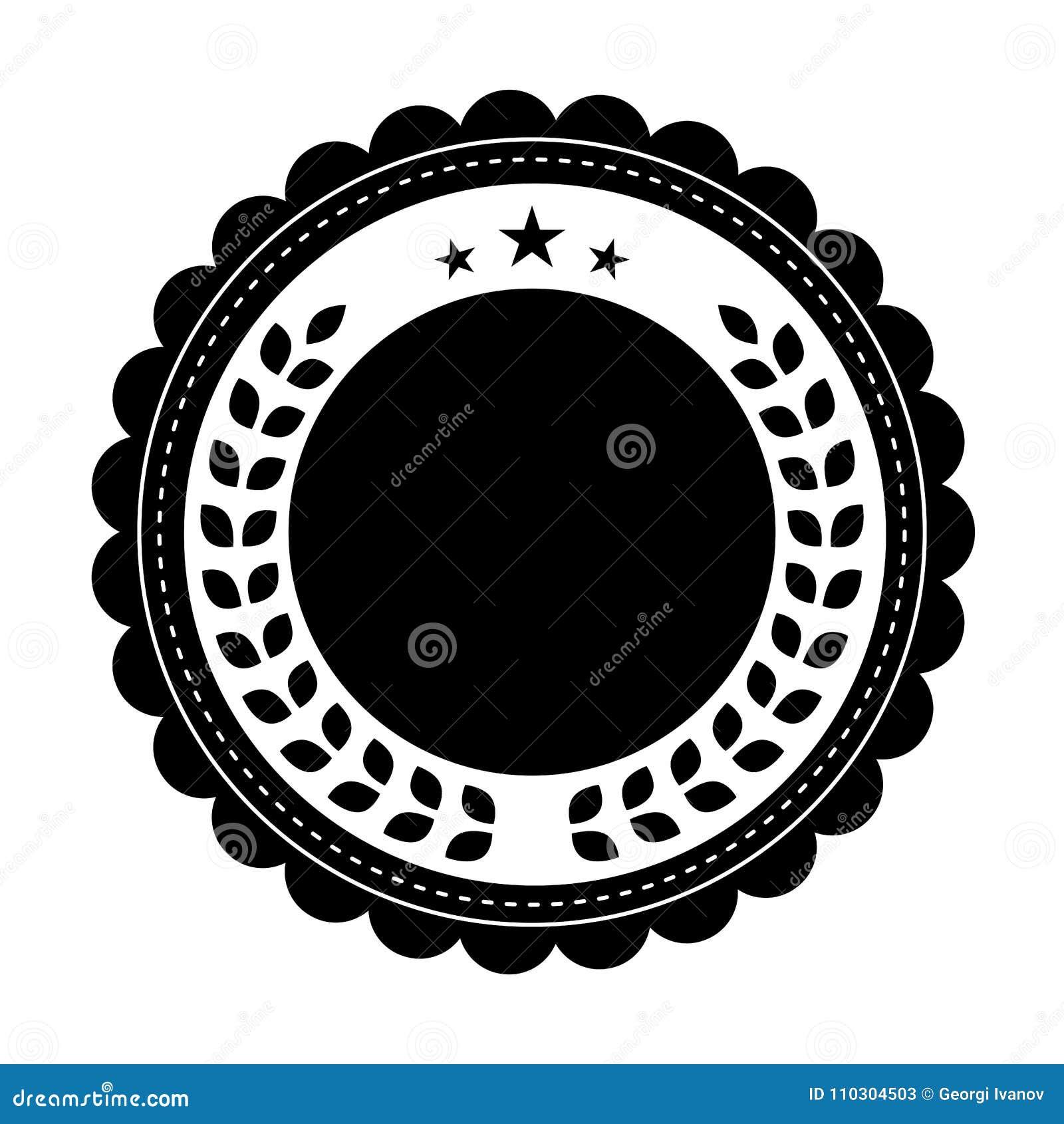 Kurenda, czarny i biały, rocznik odznaki projekt