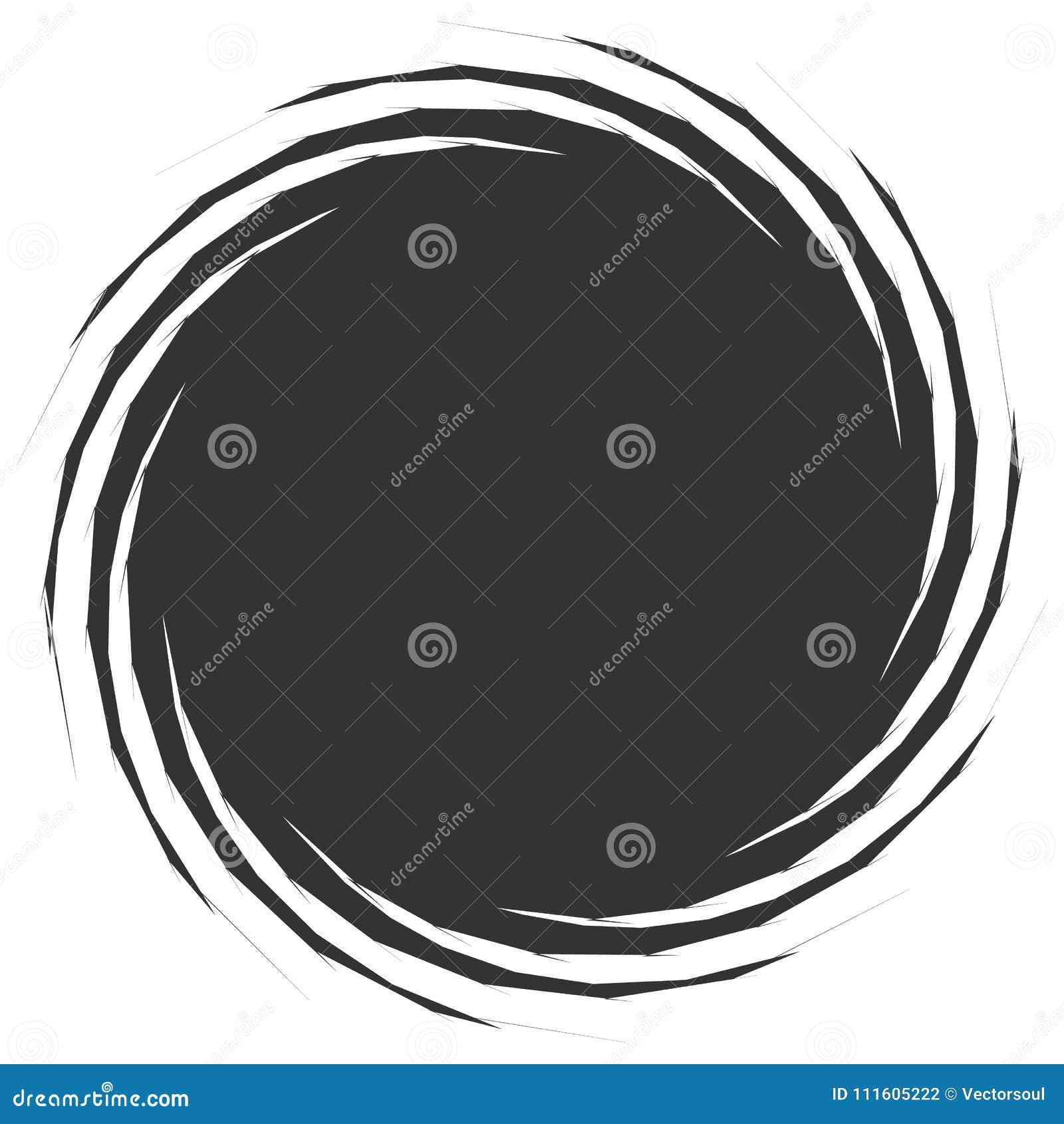 Kurenda, promieniowy abstrakcjonistyczny element na bielu Promieniować kształt z