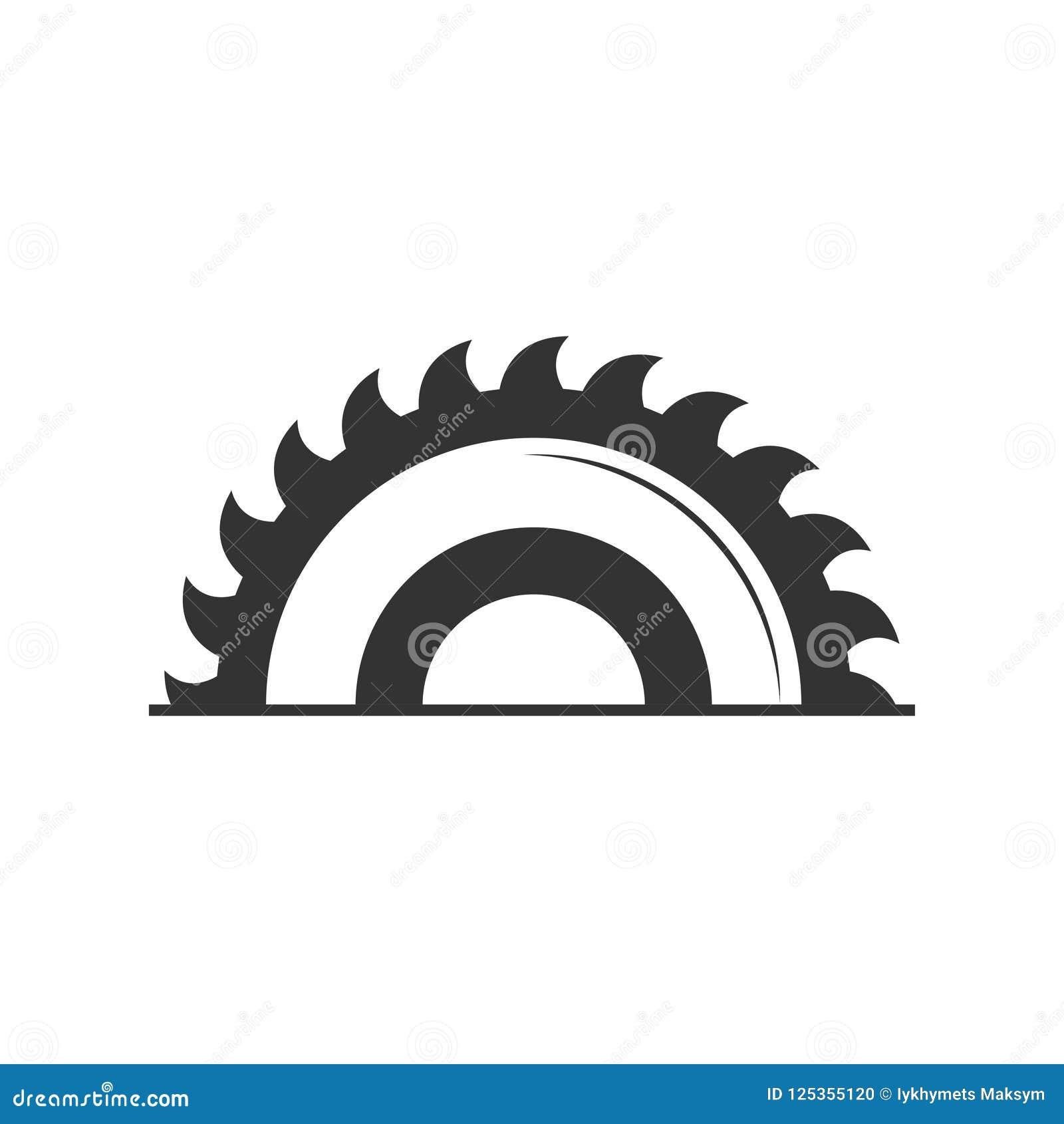 Kurenda zobaczył ikonę w mieszkanie stylu odizolowywającym na popielatym tle Dla twój projekta, logo również zwrócić corel ilustr