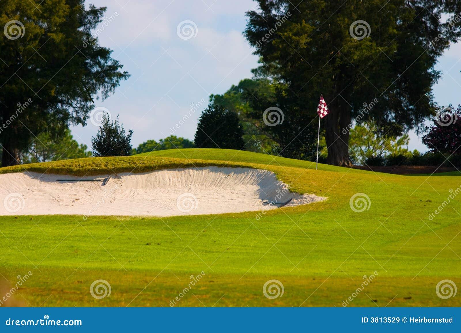 Kurs golfa piasku pułapka