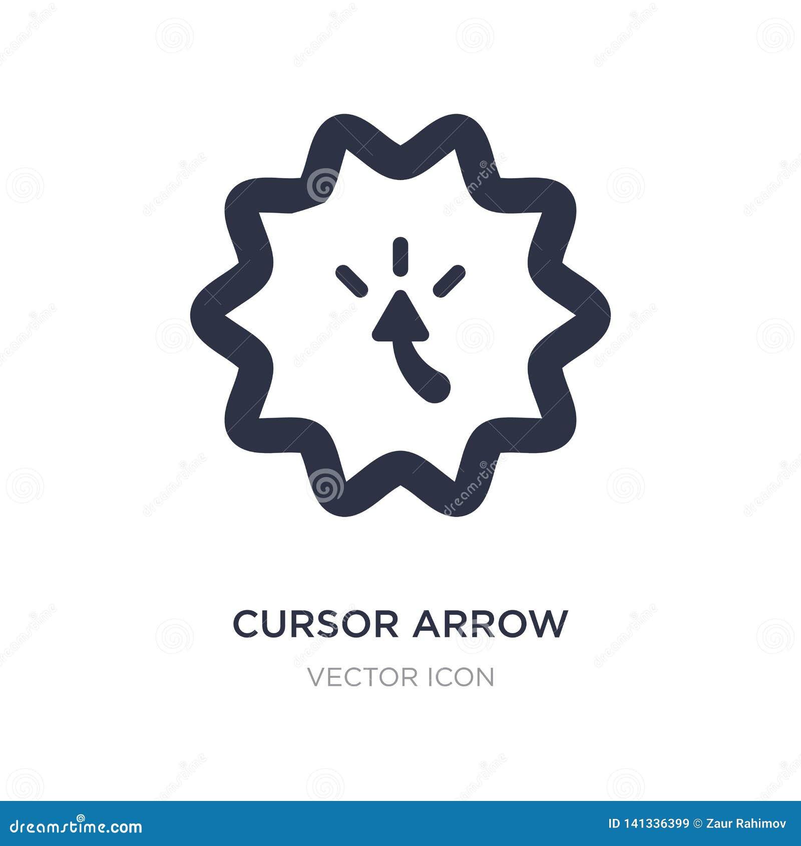 Kursor strzałkowata ikona na białym tle Prosta element ilustracja od UI pojęcia