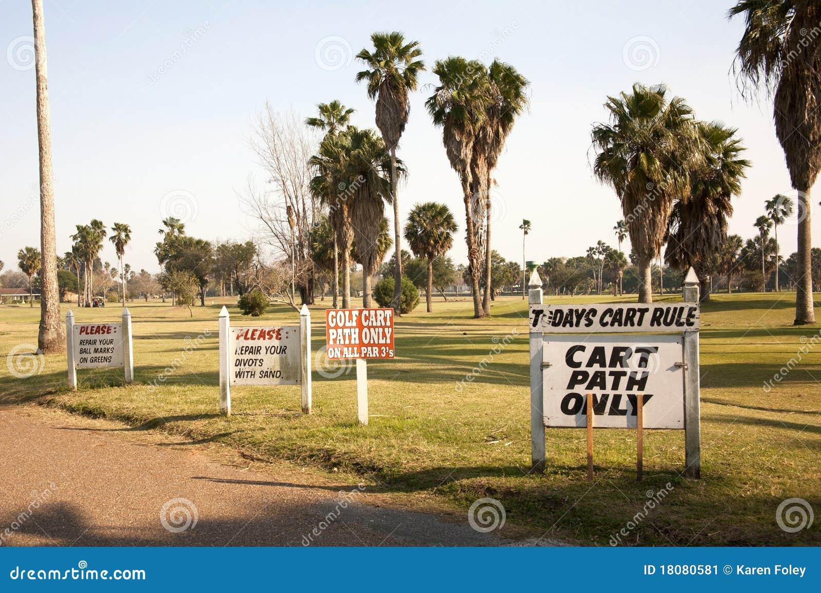 Kursowi golfowi znaki