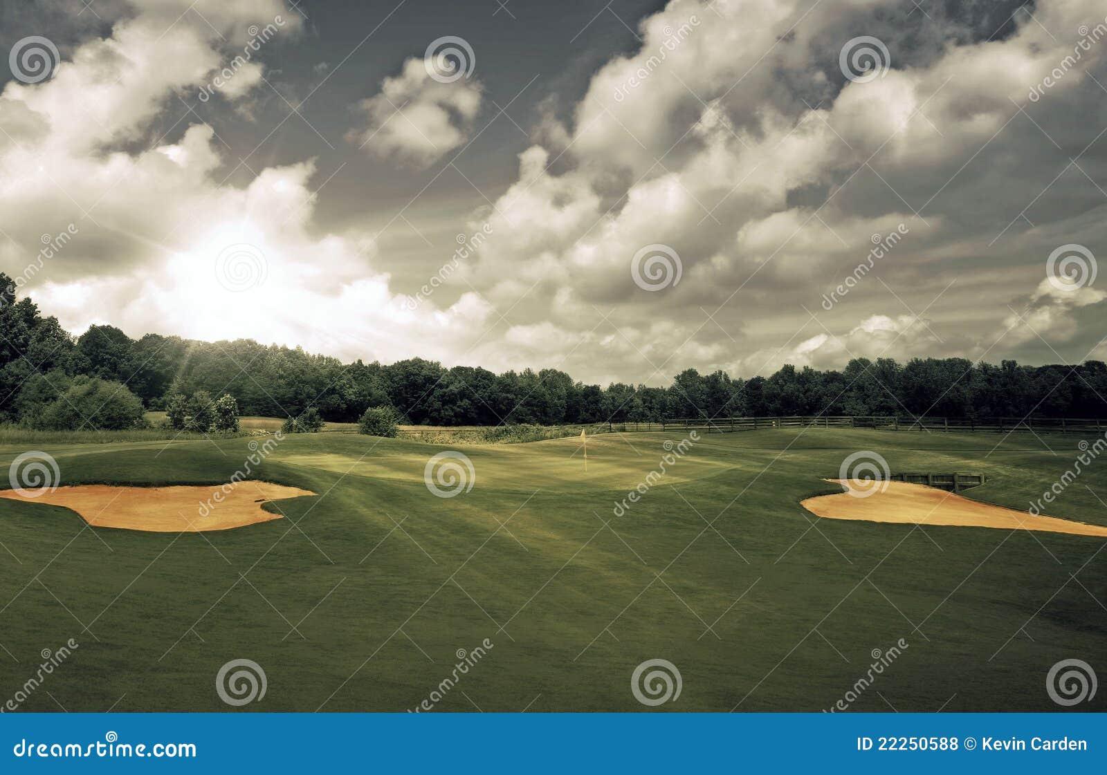 Kursowy golfowy zmierzch
