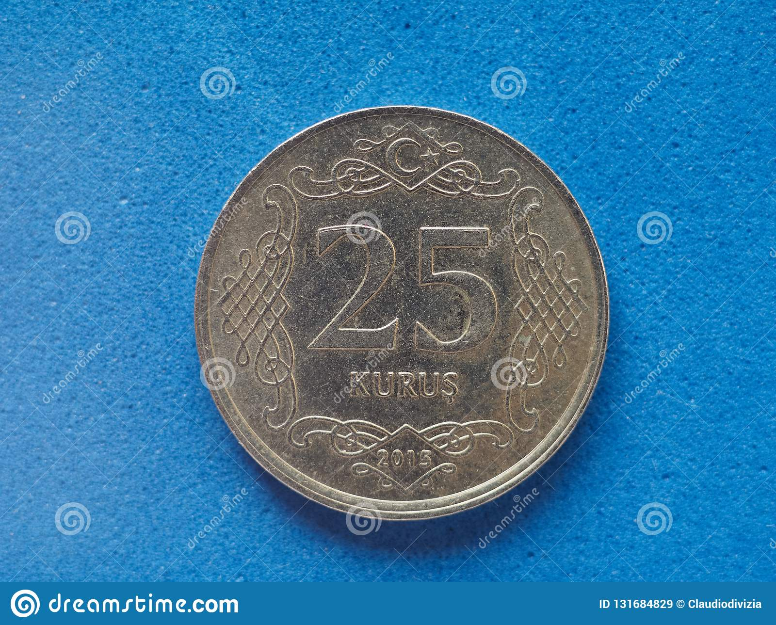 25 Kurus cents coin money