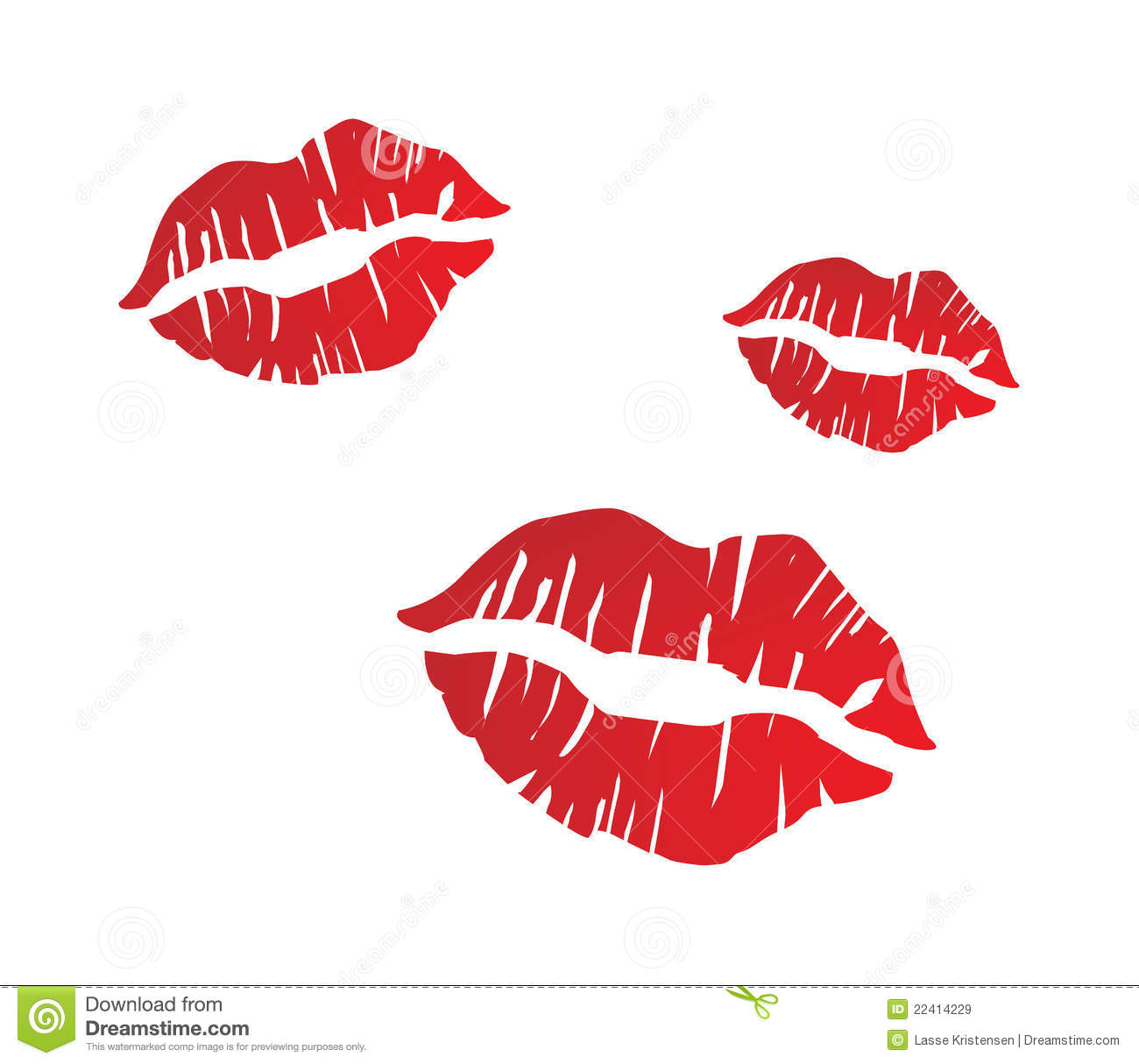 Red lips clipart free