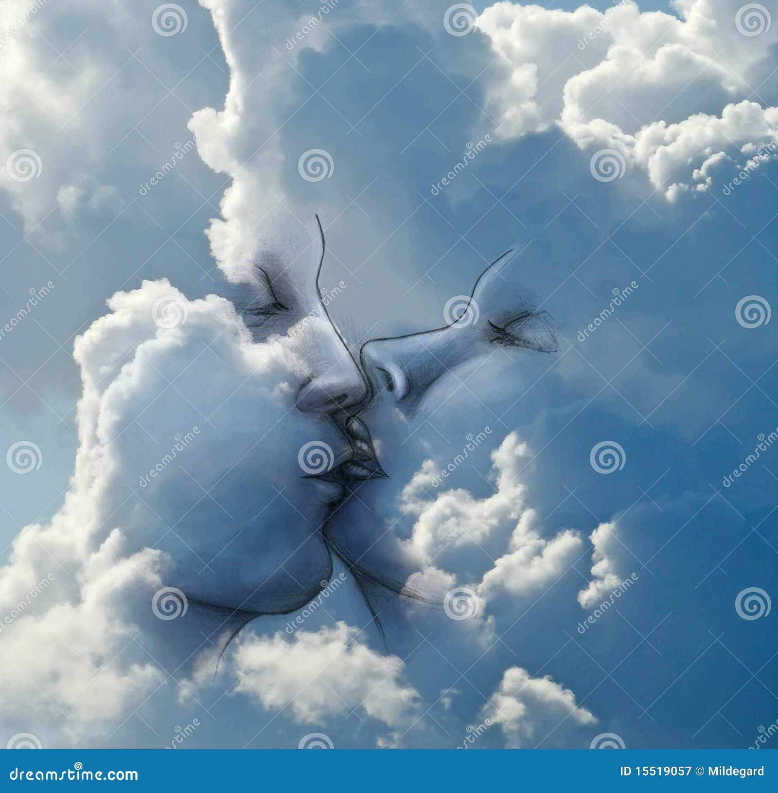 Kus in de wolken stock illustratie afbeelding bestaande uit potlood 15519057 - Foto van de show ...