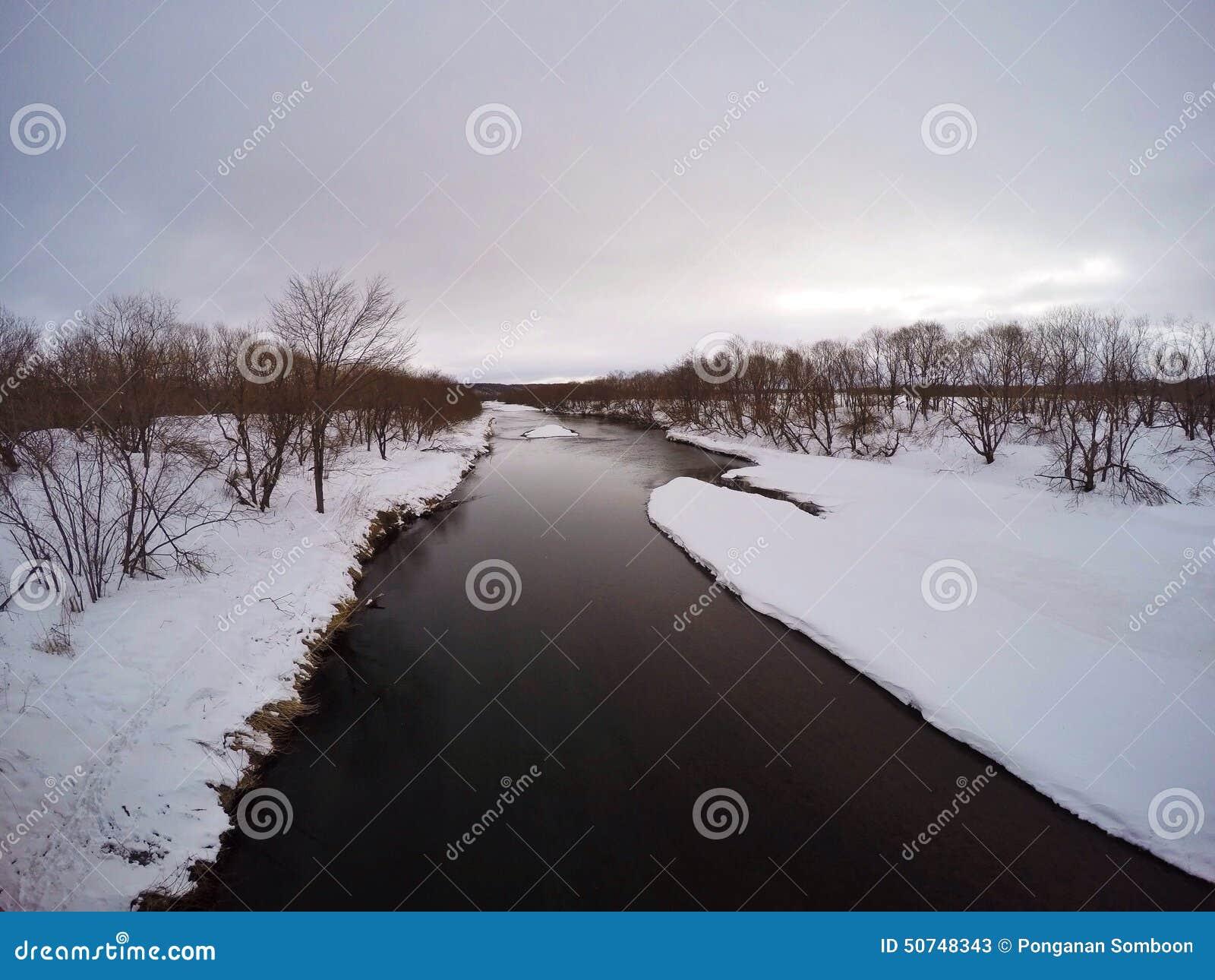 Kushiro-Marschland von Otowa-Brücke, Winter