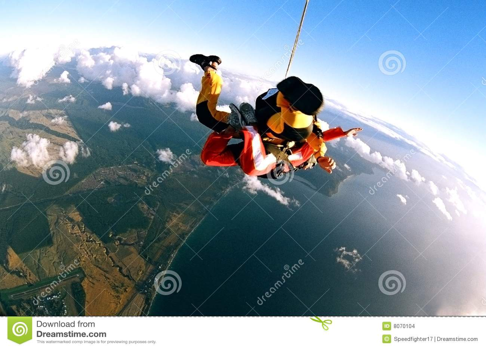 Kust över skydivers