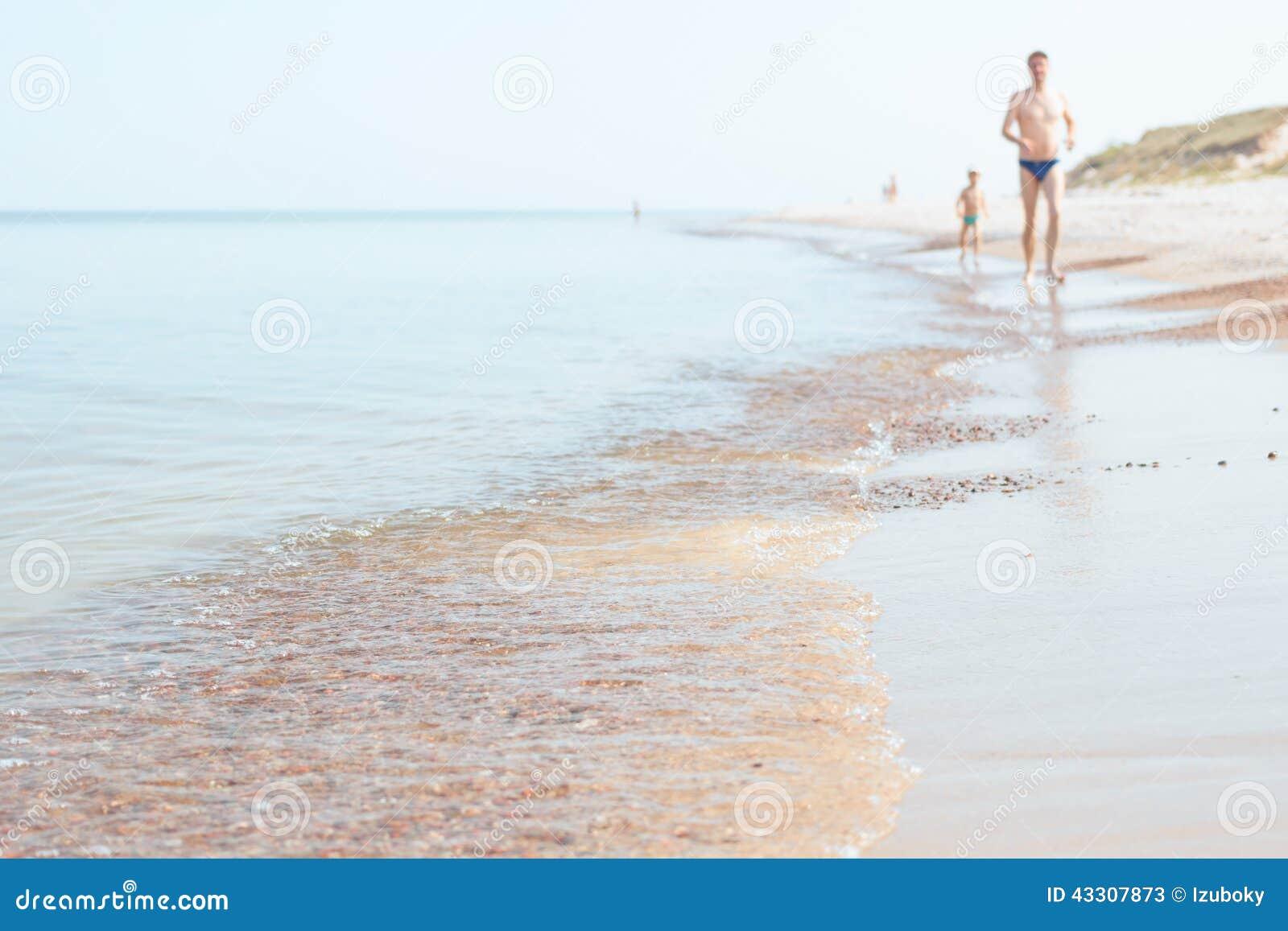 Kust, fader och son för baltiskt hav