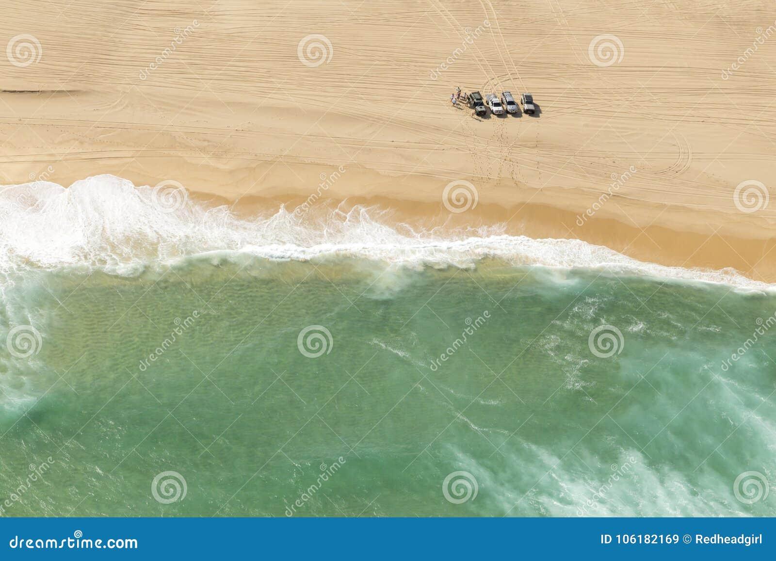Kust- havstrand från över