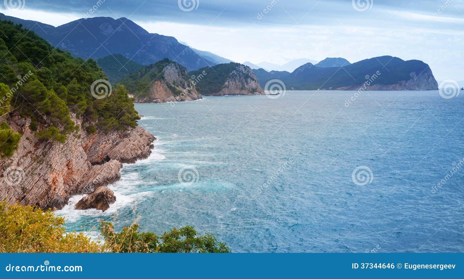 Kust- landskap för Adriatiskt hav
