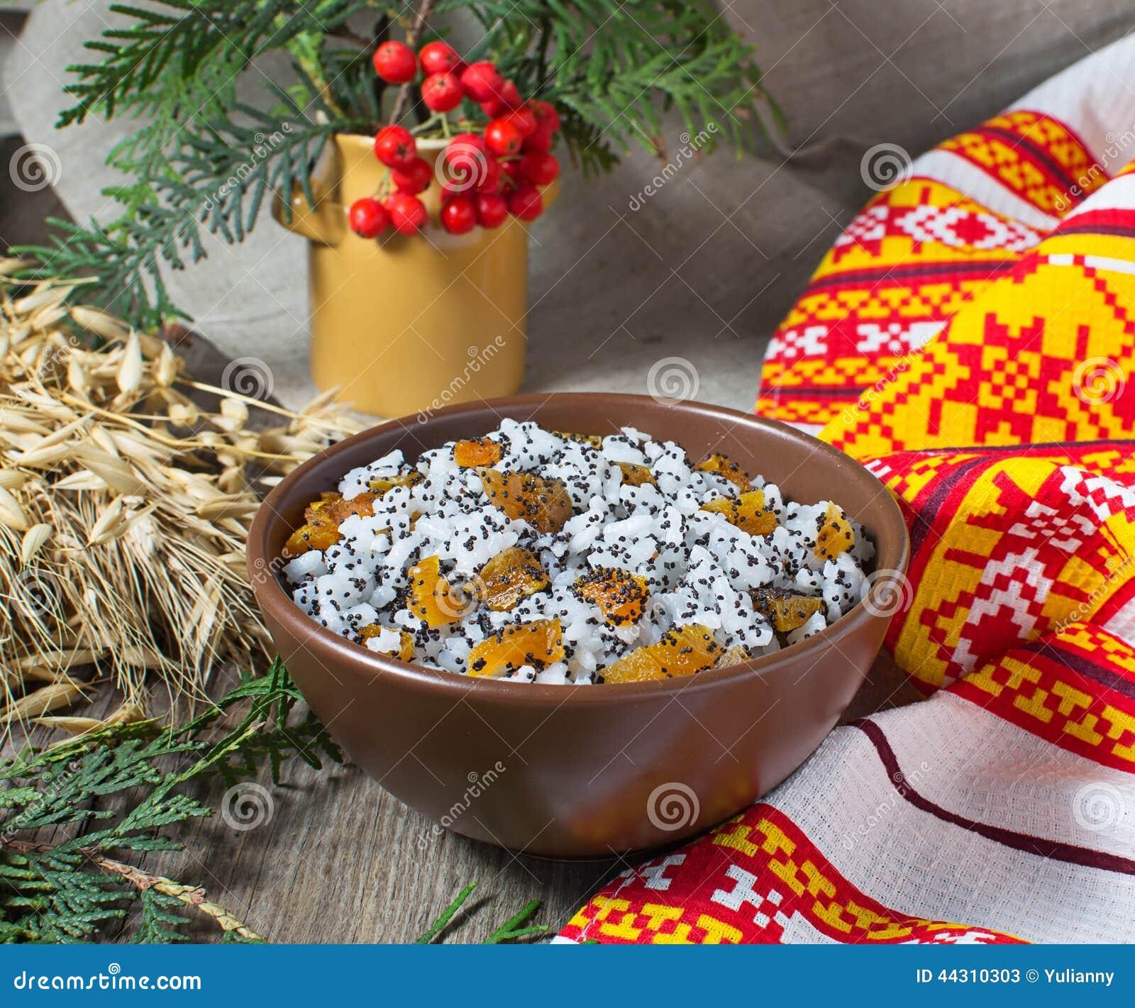 kutia repas doux de no l traditionnel en ukraine belarus et image stock image 44310303. Black Bedroom Furniture Sets. Home Design Ideas