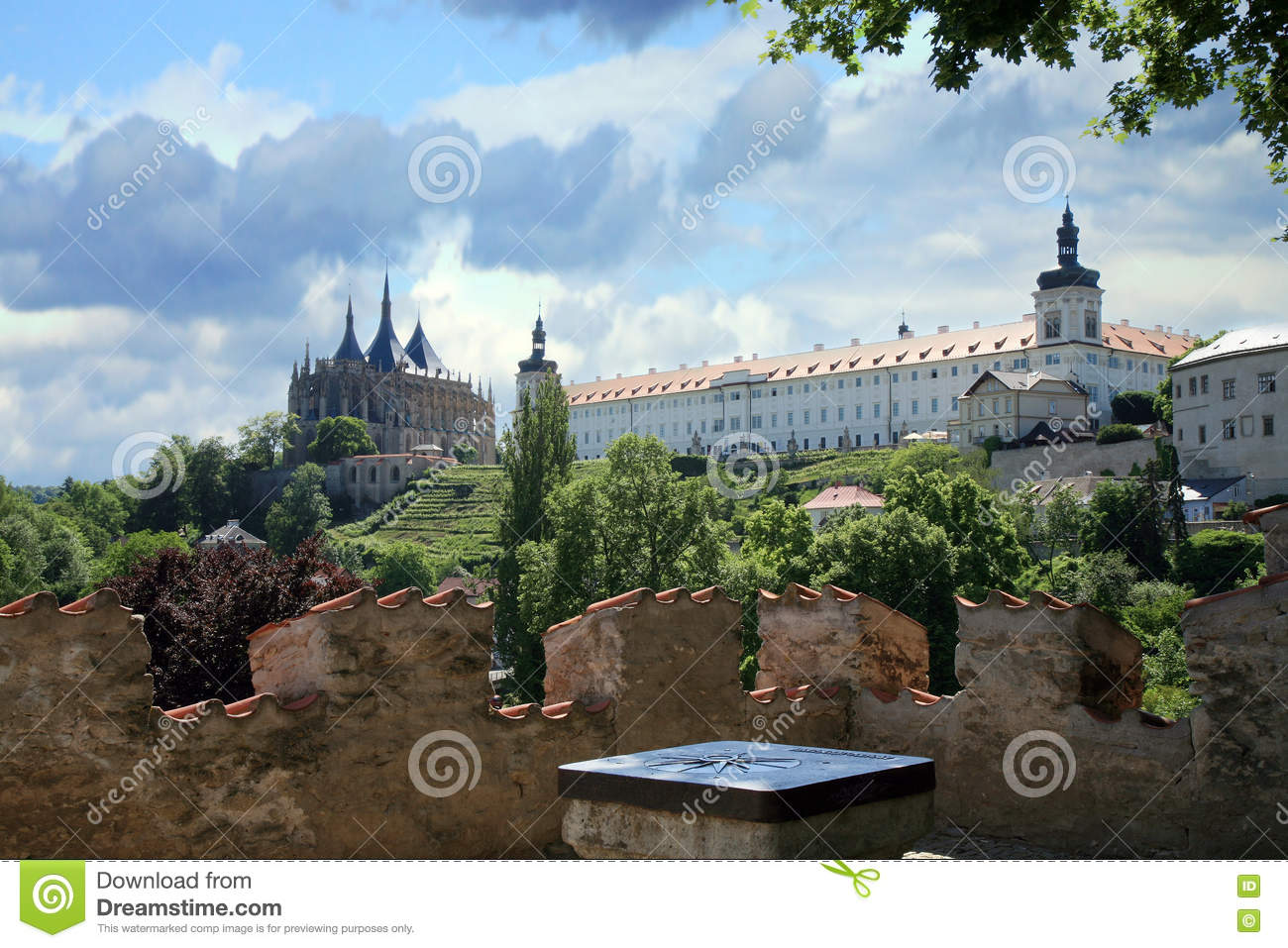Kutna Hora Czech Republic  City new picture : Kutna Hora, Czech Republic. Church of Saint Barbara. UNESCO World ...