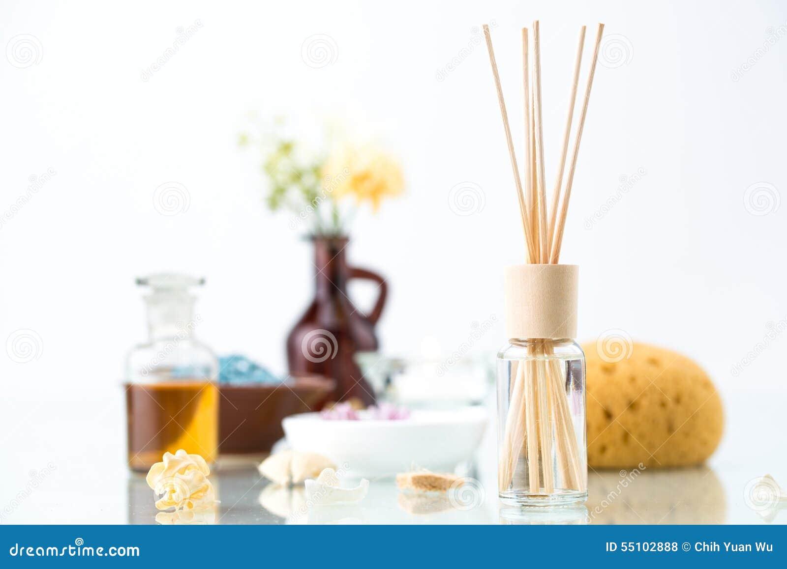 Kuuroordconcept met Aromatherapy, Luchtverfrissing, etherische olie
