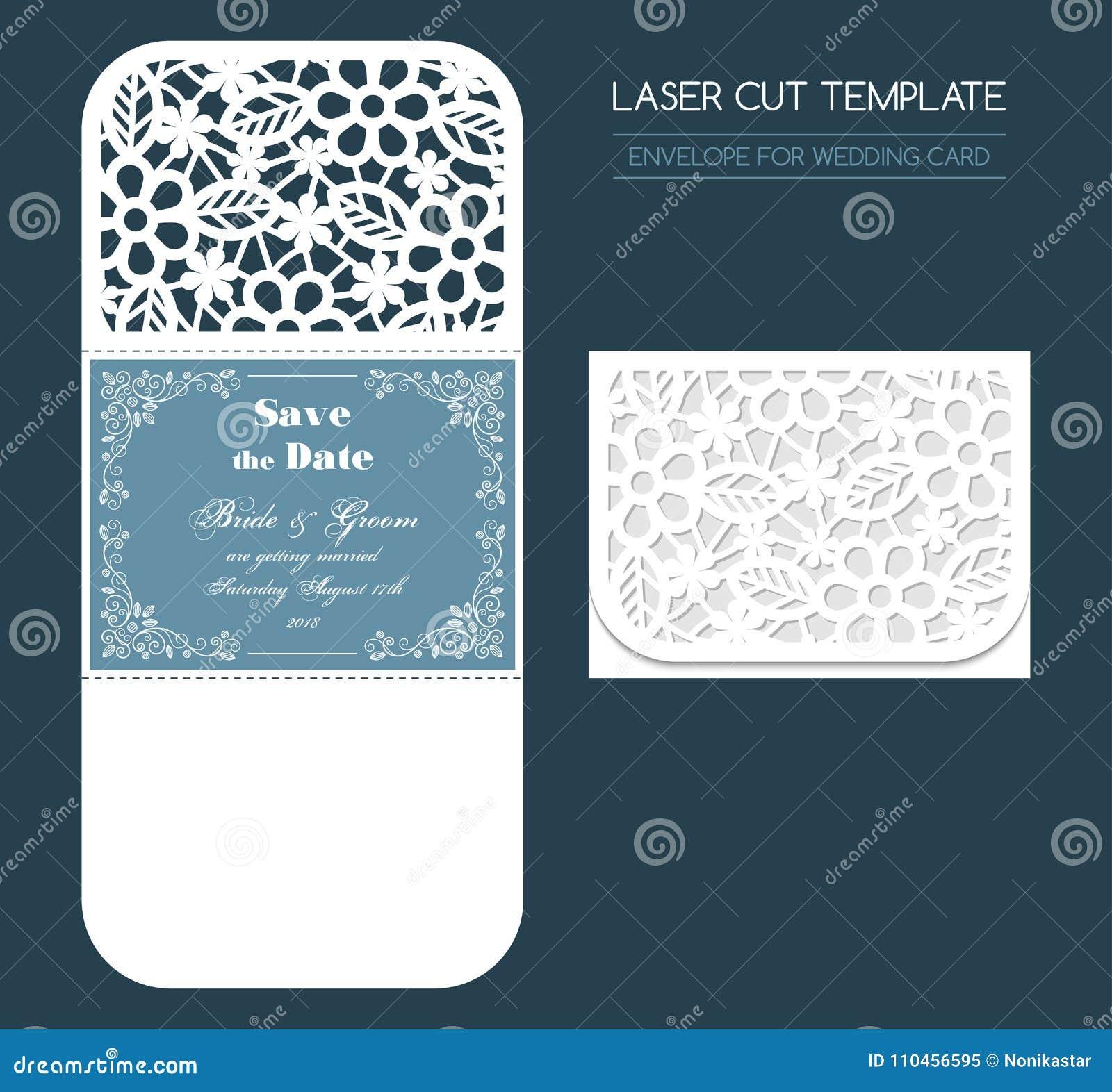 Kuvert för brölloplaser-snitt