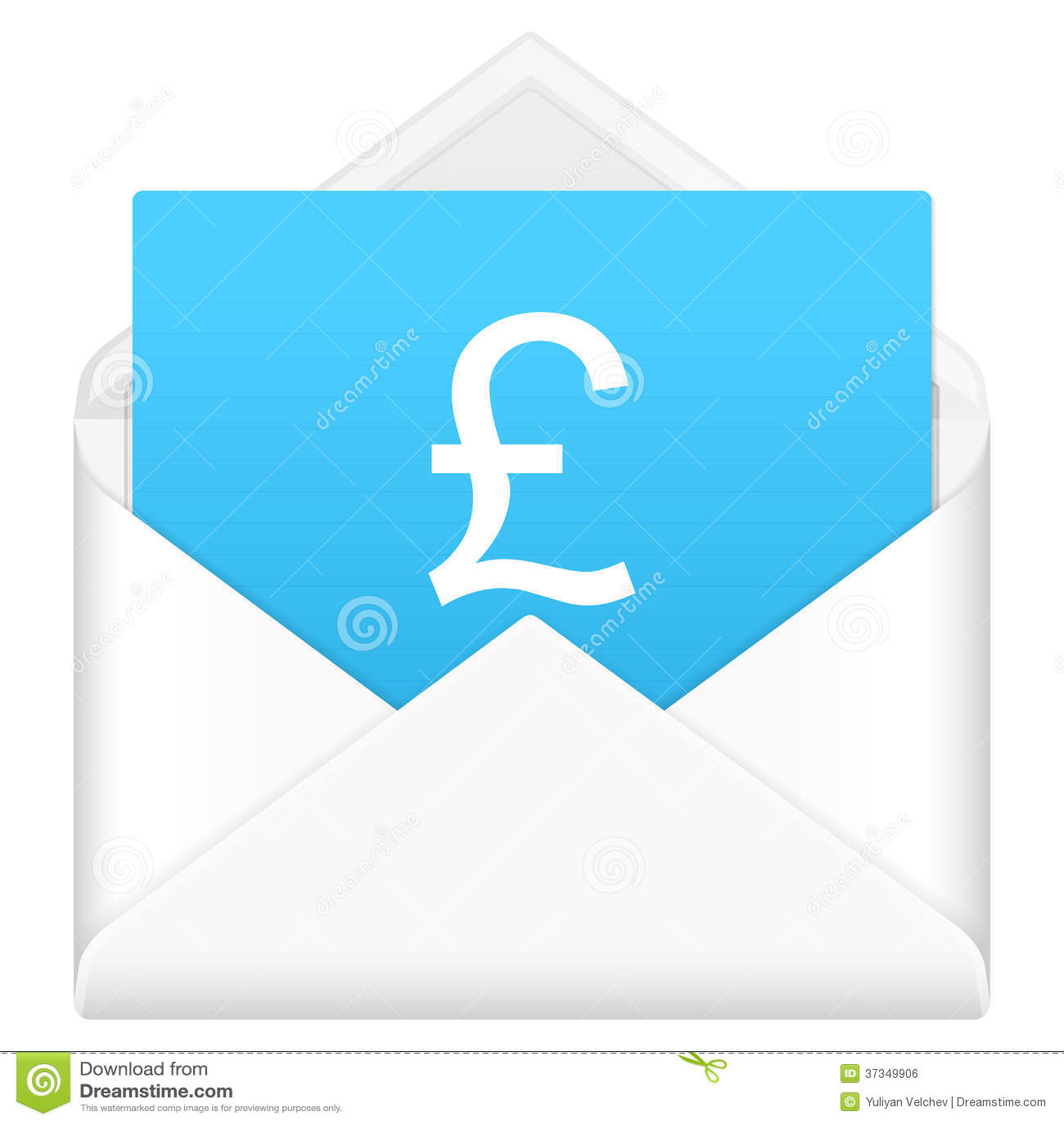 Kuvert med symbol för brittiskt pund