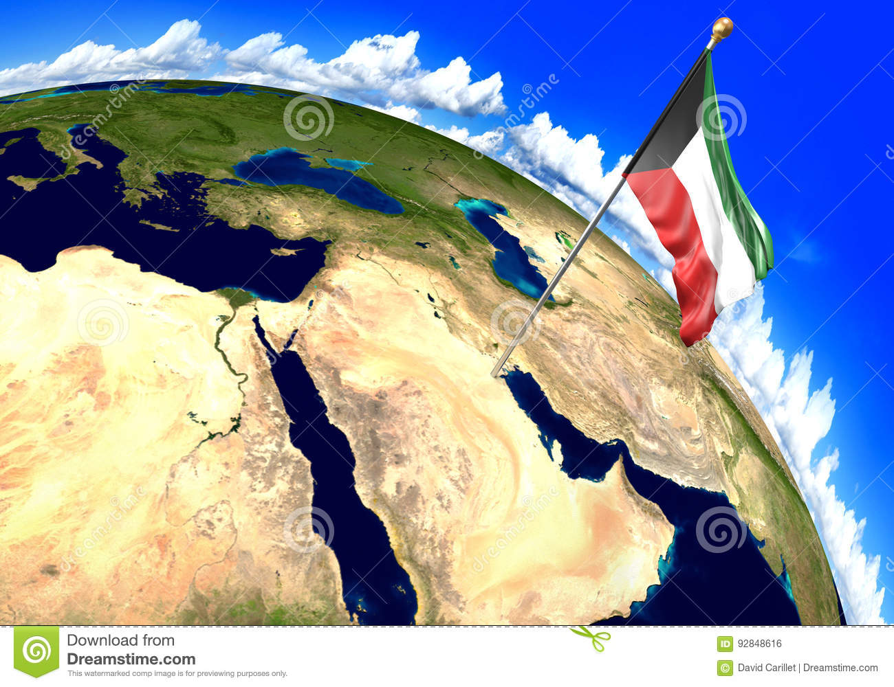 Kuwait National Flag Marking The Country Location On World Map. 3D on kuwait oil map, kuwait oil fields, kuwait position on world map, kuwait region map, kuwait map outline, kuwait islands on map, kuwait natural resources map, saudi arabia on world map, safat kuwait map, yemen on world map, kuwait ocean caribbean, al jaber kuwait air base map, kuwait road map, kuwait religion map, ahmadi kuwait map, kuwait ports map, tasmania location map, kuwait on asia map, coral sea location on map, kuwait afghanistan map,