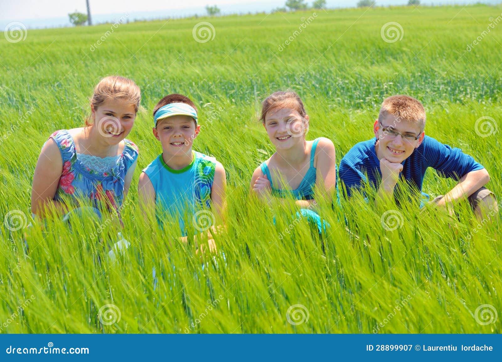 Kuzyny w pszenicznym polu