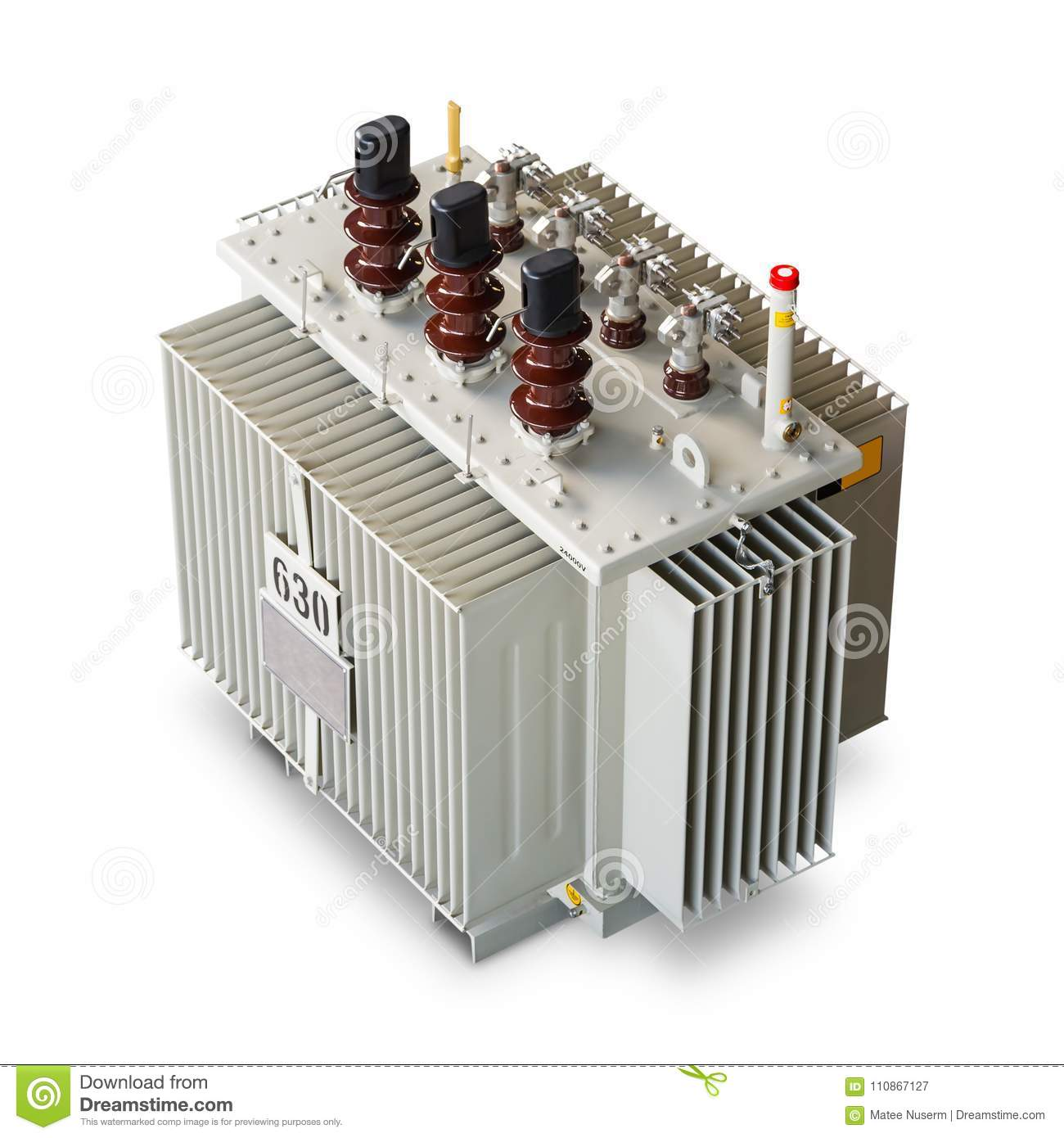 630 KVA Oil Immersed Transformer Stock Image - Image of