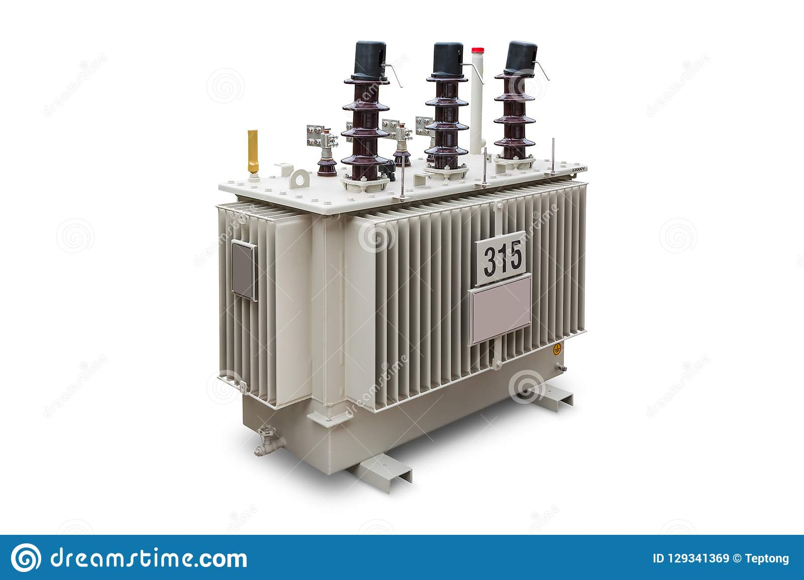 315 KVA Oil Immersed Transformer Stock Image - Image of path