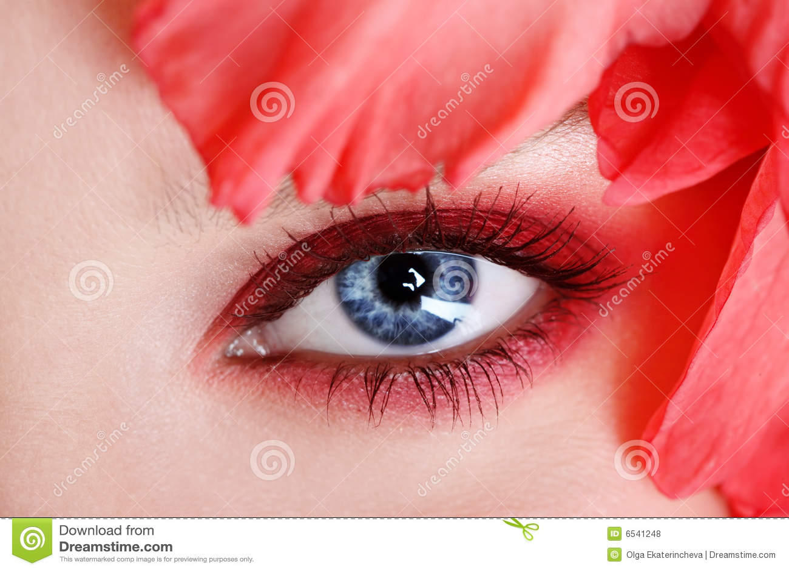 Kvinna för öga s