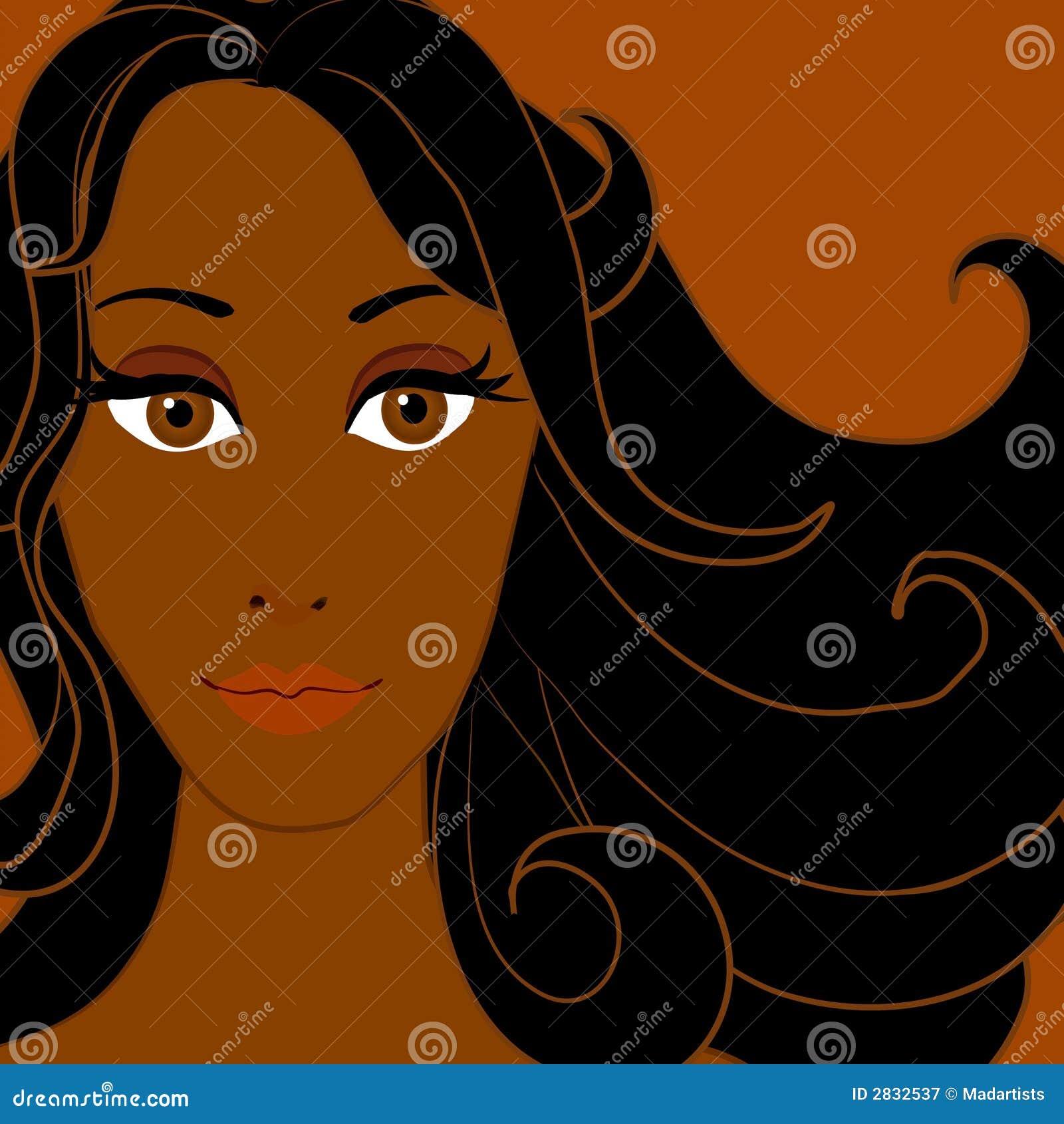 Kvinna för afrikansk amerikan 3