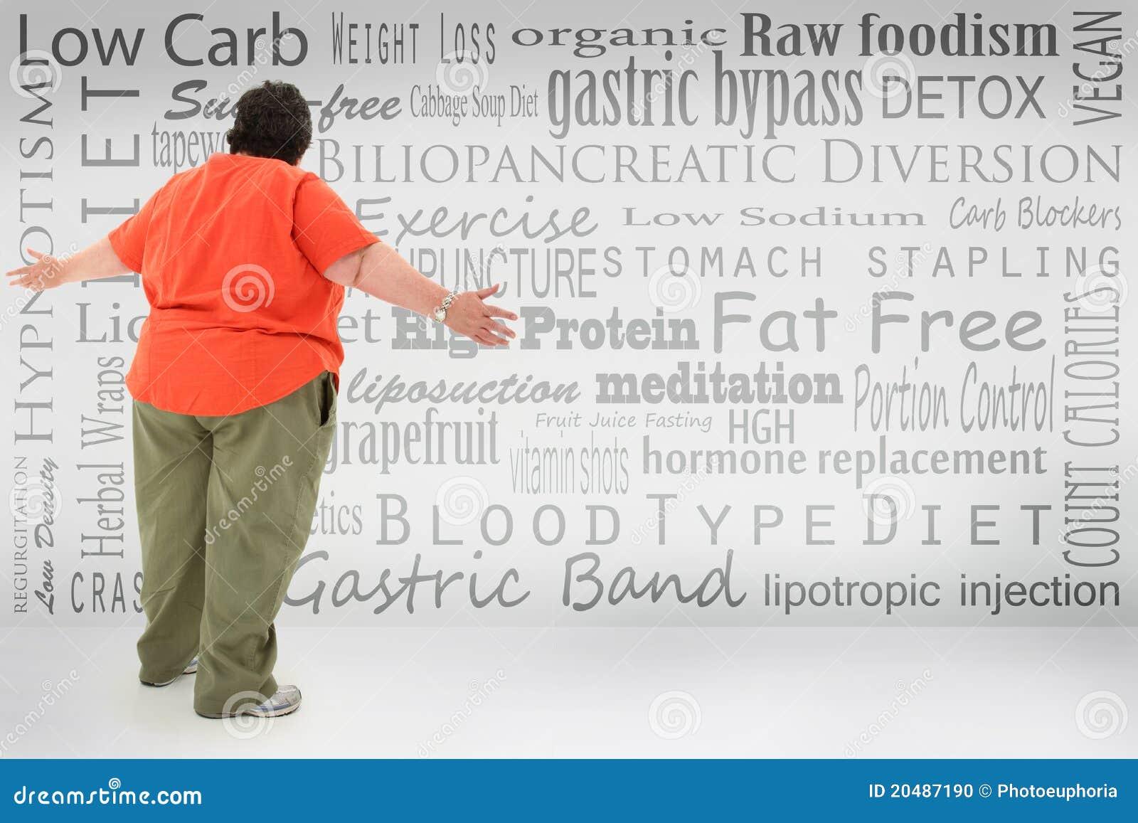 Kvinna för vikt för valförlust obese