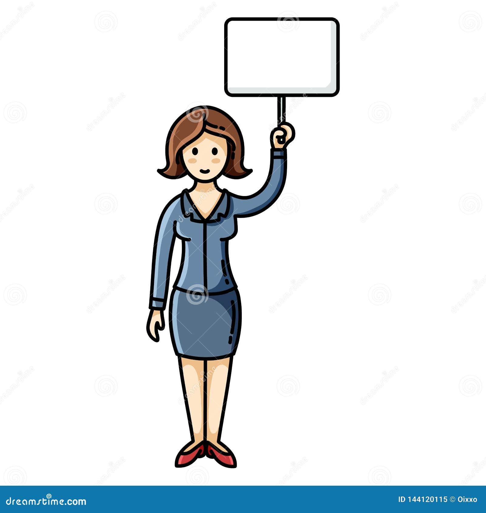 Kvinna f?r holdingteckenwhite Protestera kvinnan Infographic best?ndsdel Flodh?st P? en rosa bakgrund med palmblad