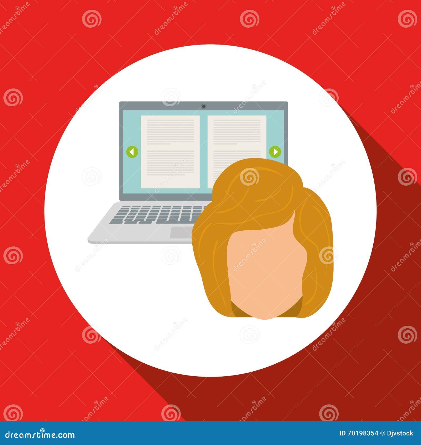 Kvinna- och samkvämmassmedia grafisk design, vektorillustration