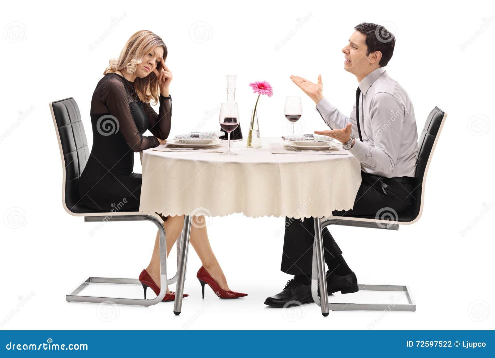 Kvinna som bryter upp med hennes pojkvän