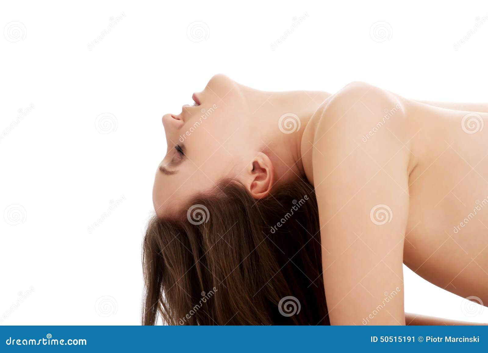 kvinna som har en orgasm