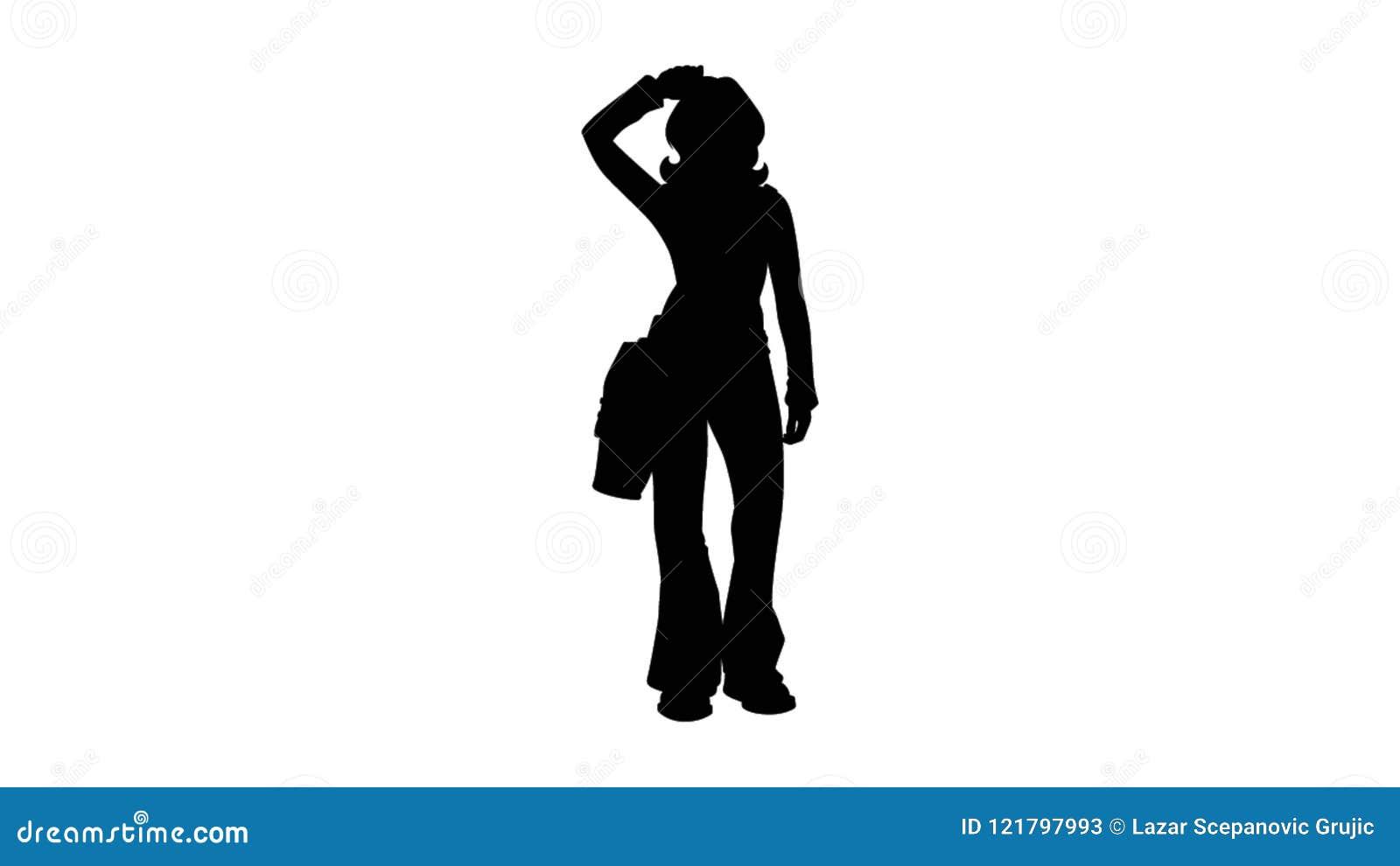 Kvinna som ut går illustration