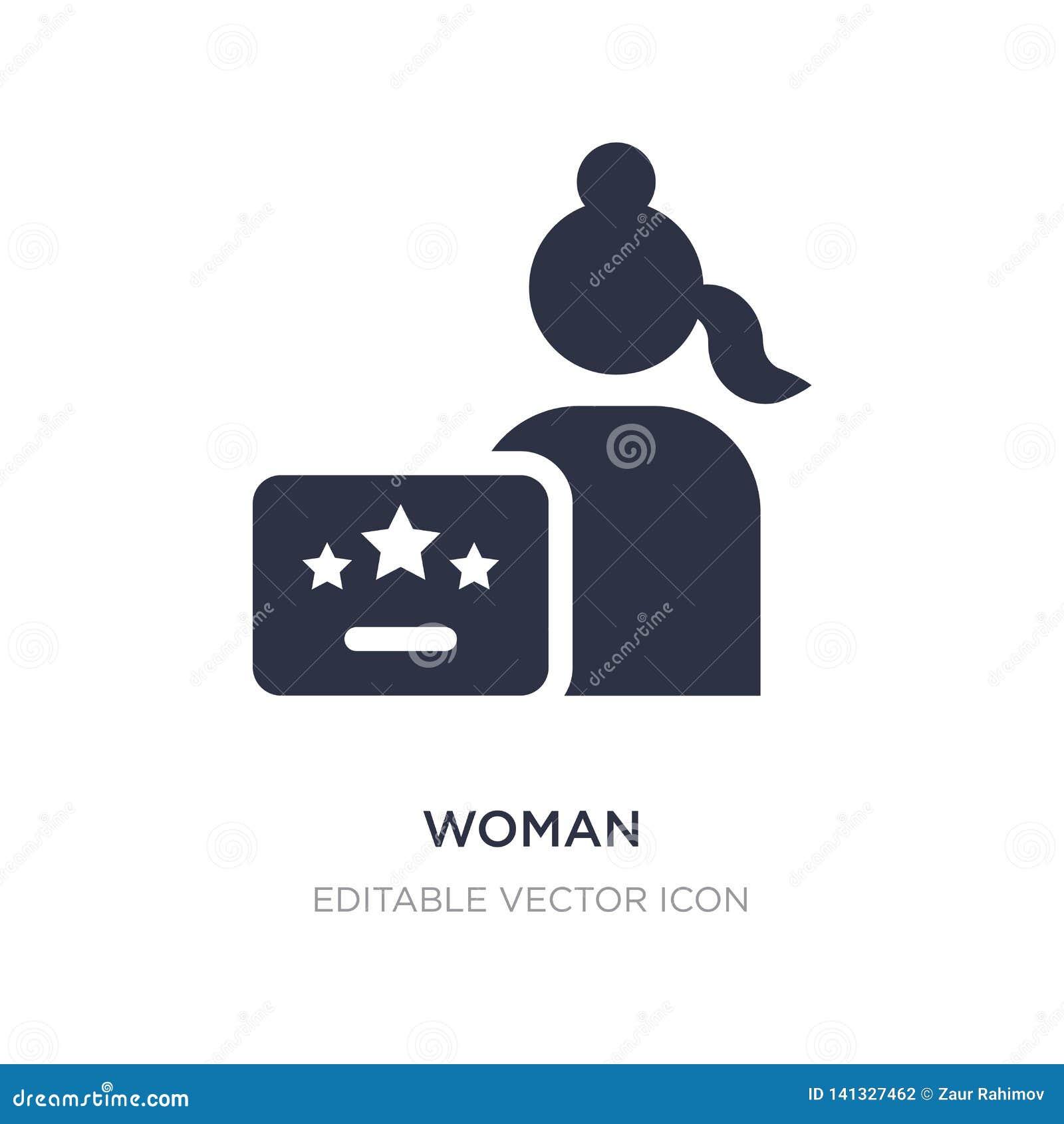 Kvinnaattesteringssymbol på vit bakgrund Enkel beståndsdelillustration från Seo och rengöringsdukbegrepp