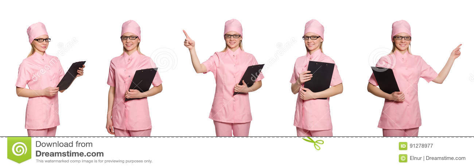 Kvinnadoktorn på vit