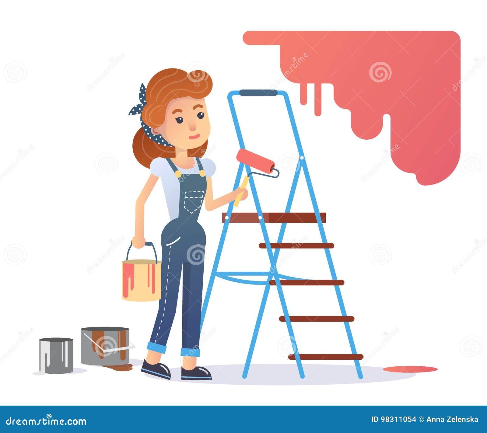 Kvinnamålare