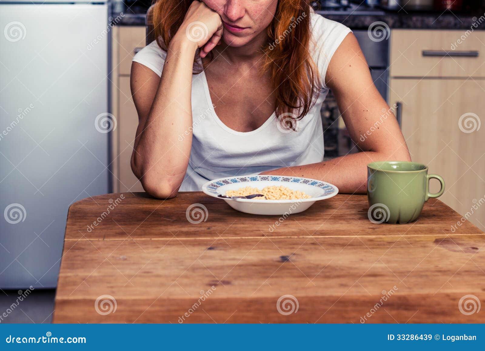 Kvinnan önskar inte att äta hennes sädesslag