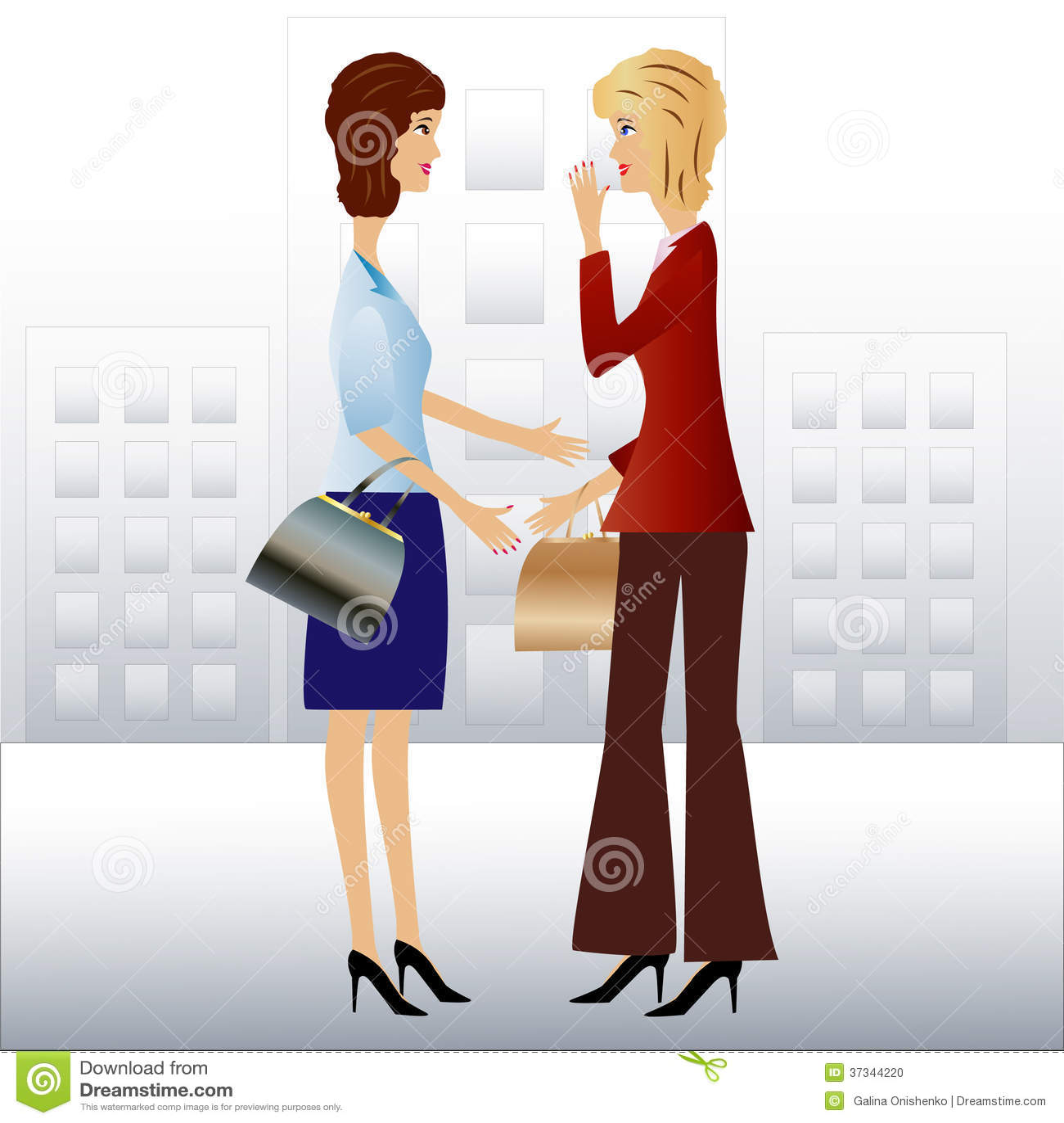 Kvinnan för affär två talar