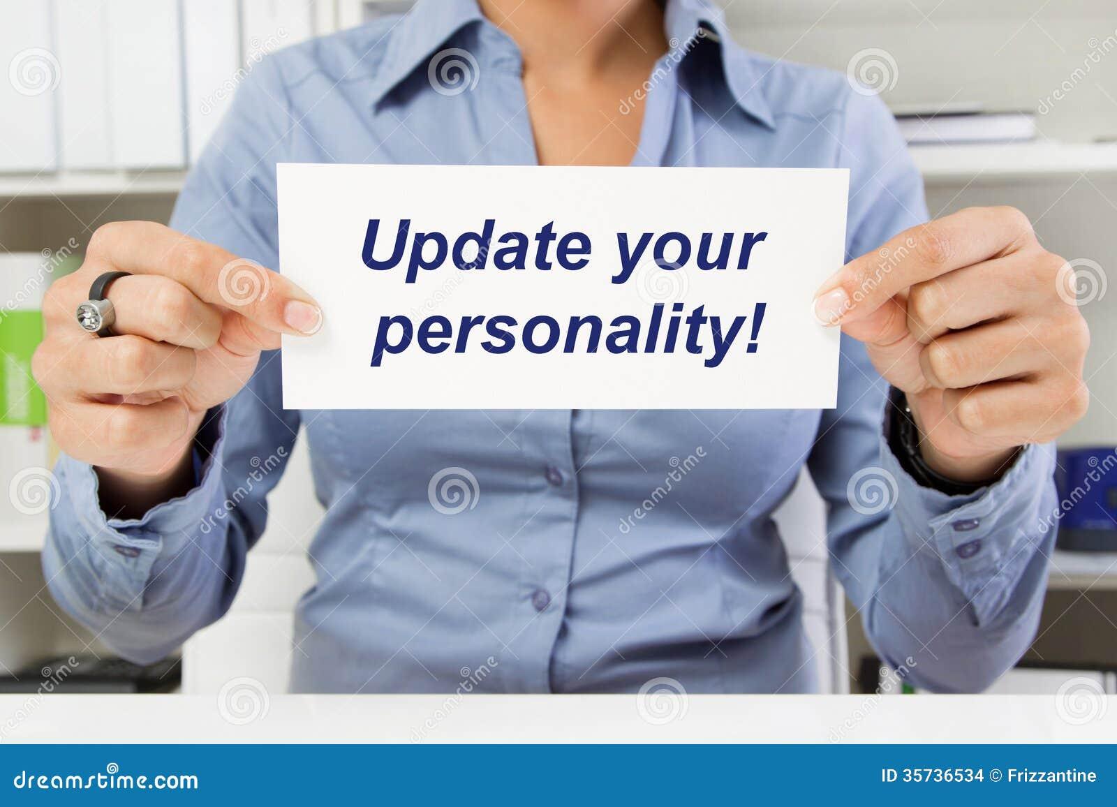 Kvinnan med tecknet - uppdatera din personlighet