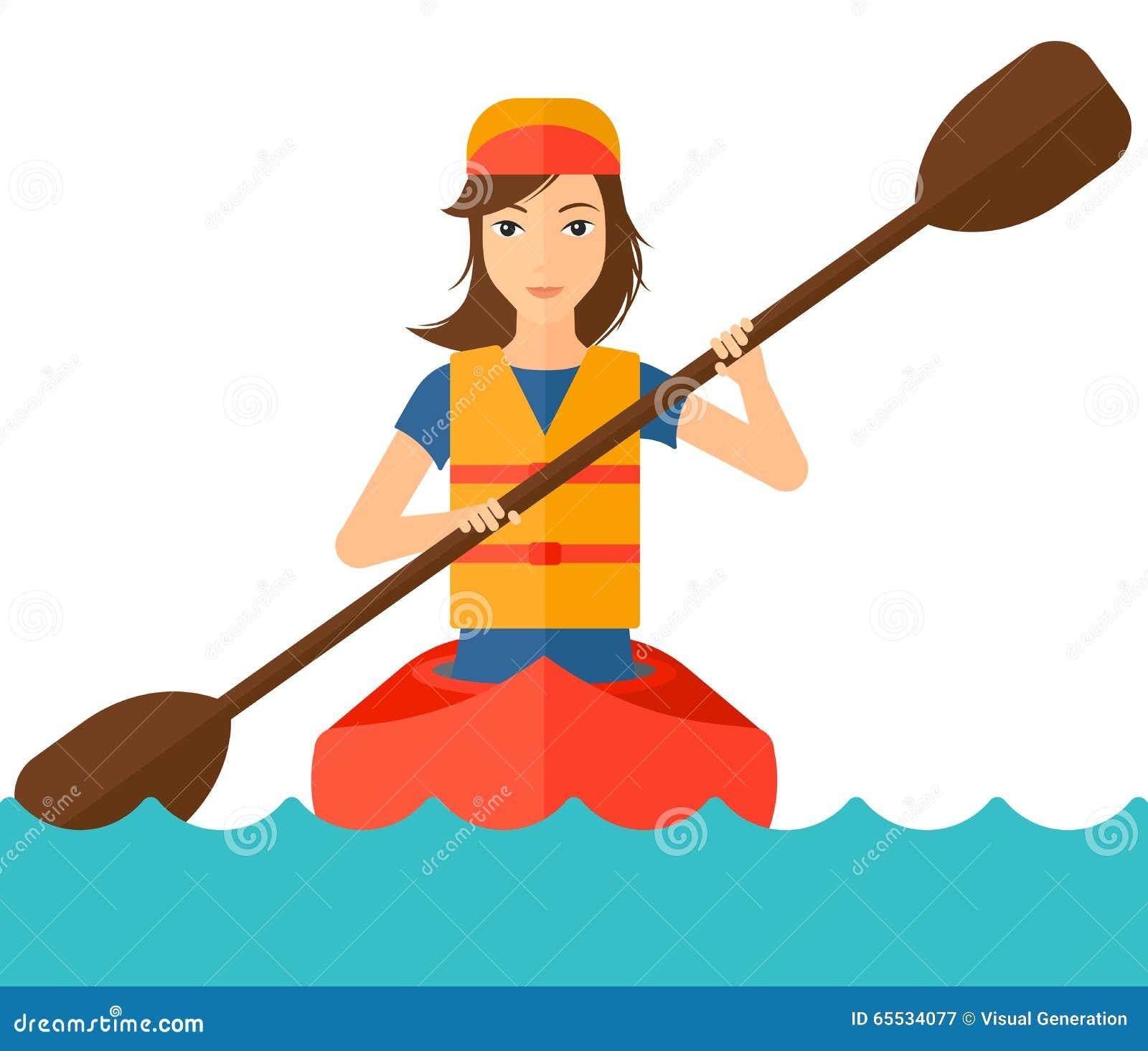 Kvinnaridning i kanot