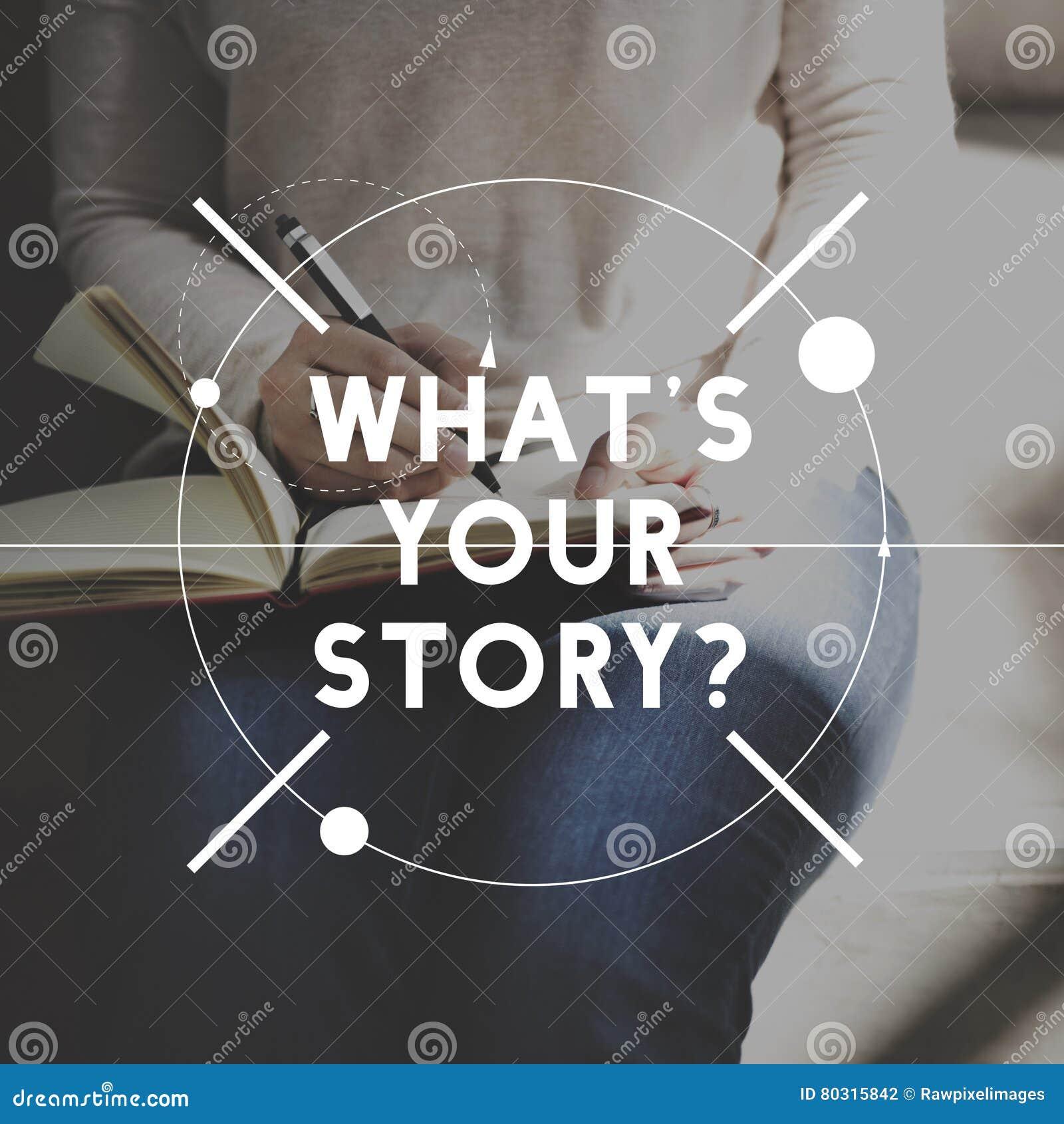 Kvinnlig berättelseförfattare Sketch Graphic Concept