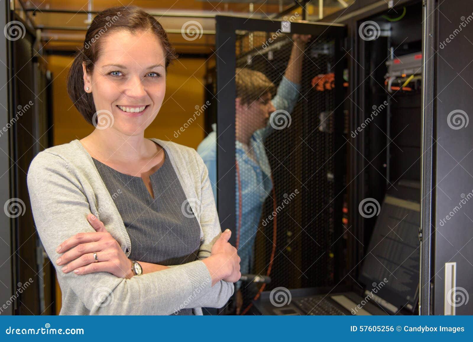 Kvinnlig datacenterchef