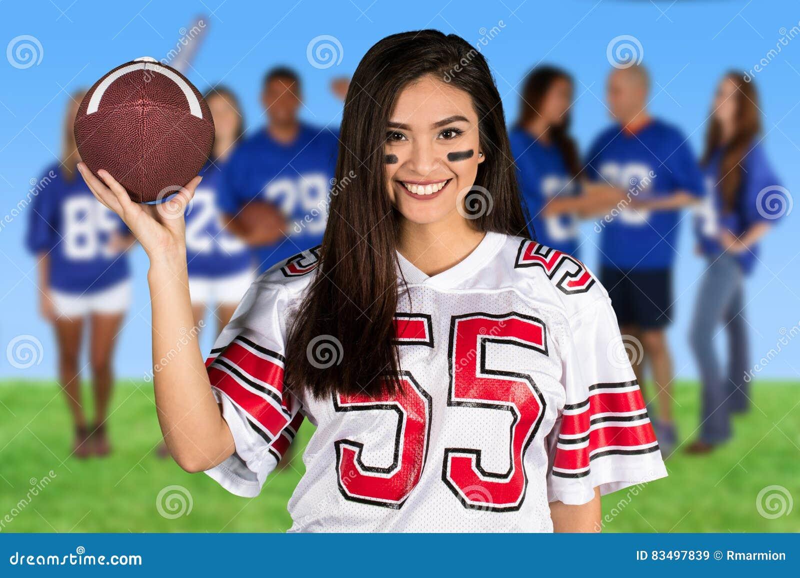 Kvinnlig fotbollsfan