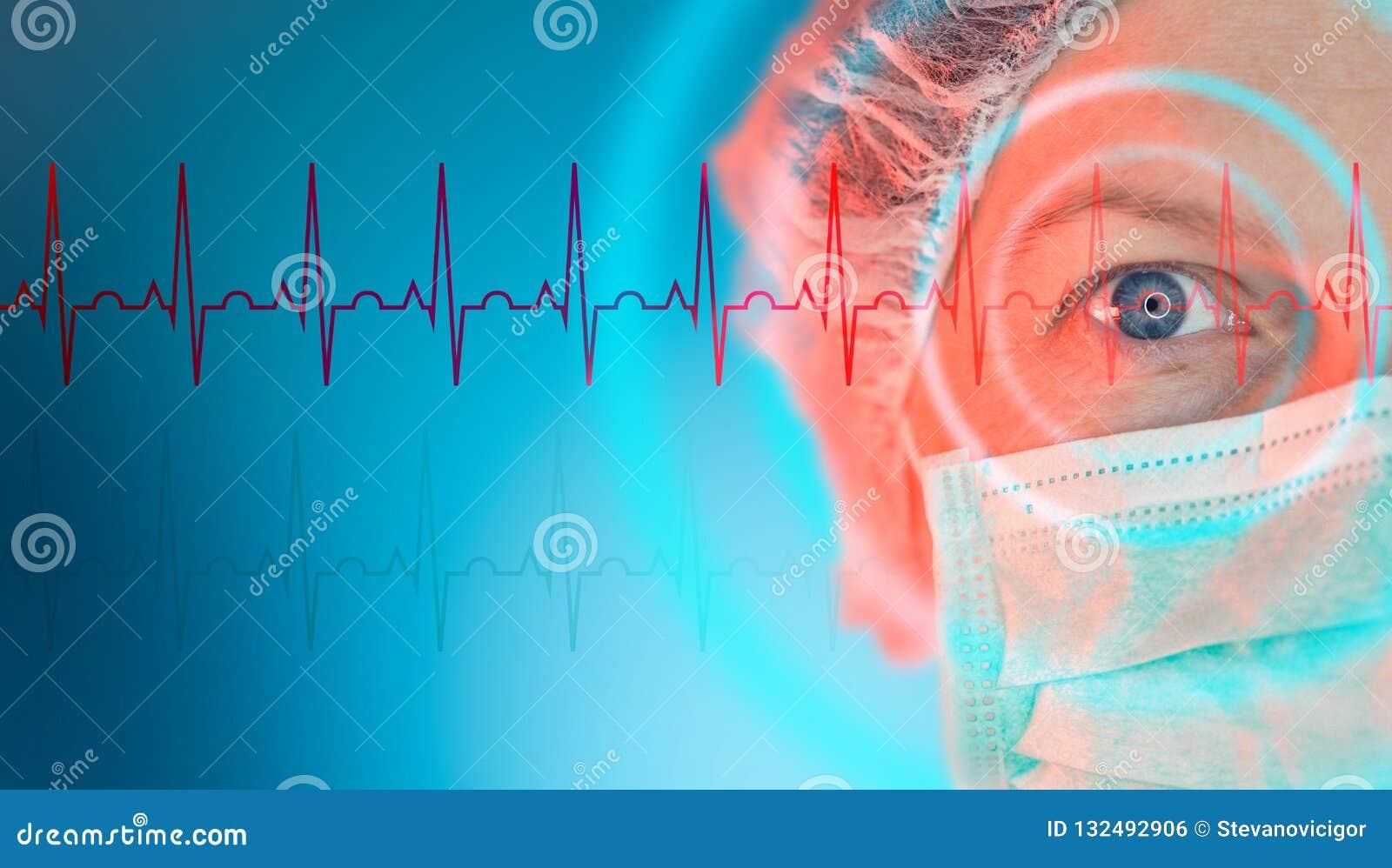 Kvinnlig kardiolog, kardiologispecialiststående